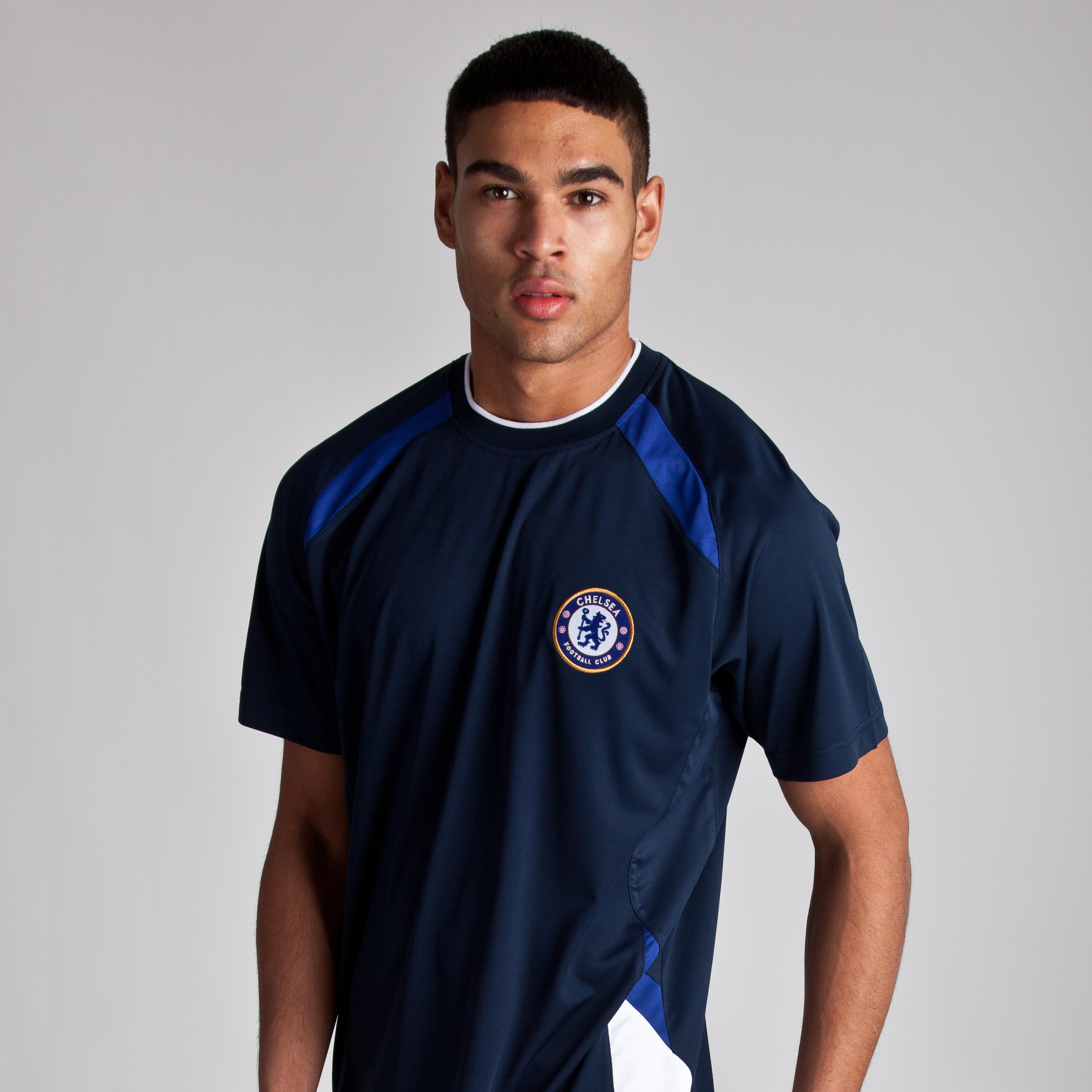 Chelsea Basic Poly Panel T-Shirt - Navy