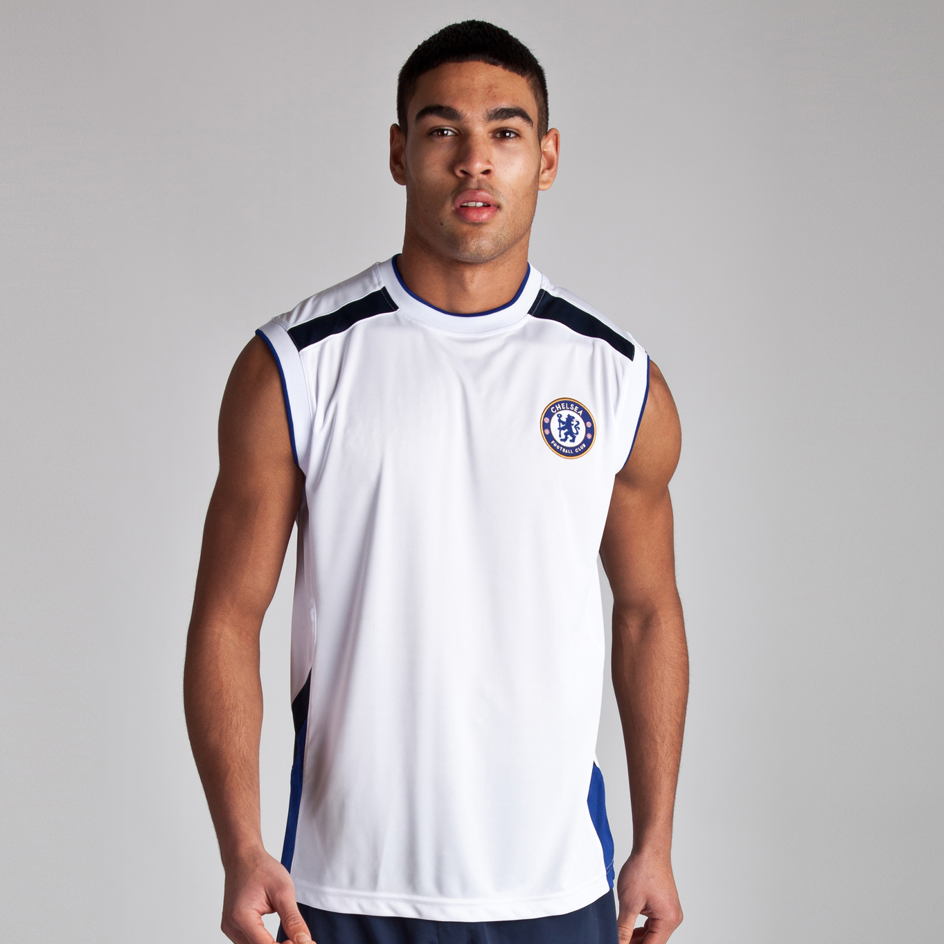 Chelsea Basic Poly Panel Vest - White