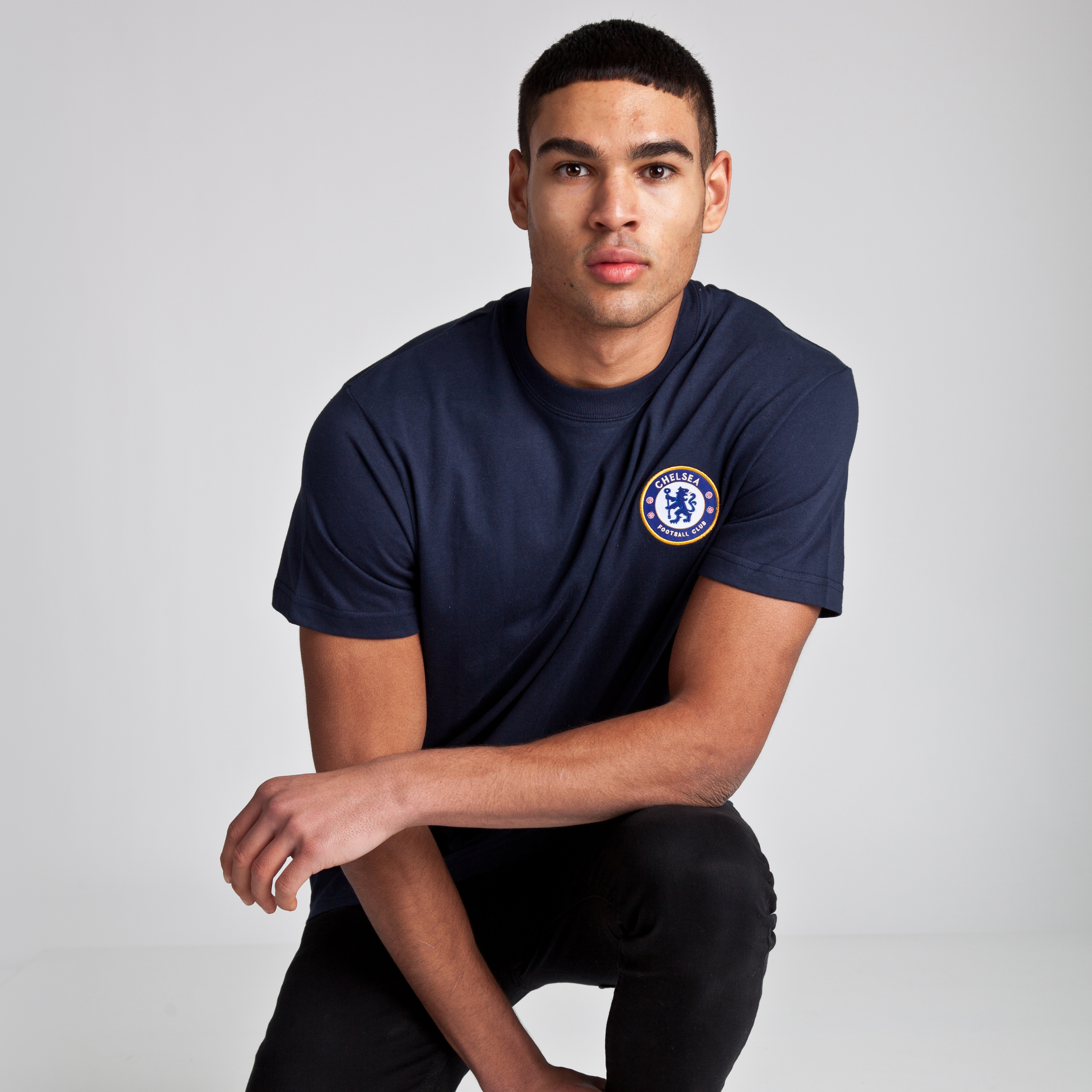 Chelsea Basic Crest T-Shirt - Navy