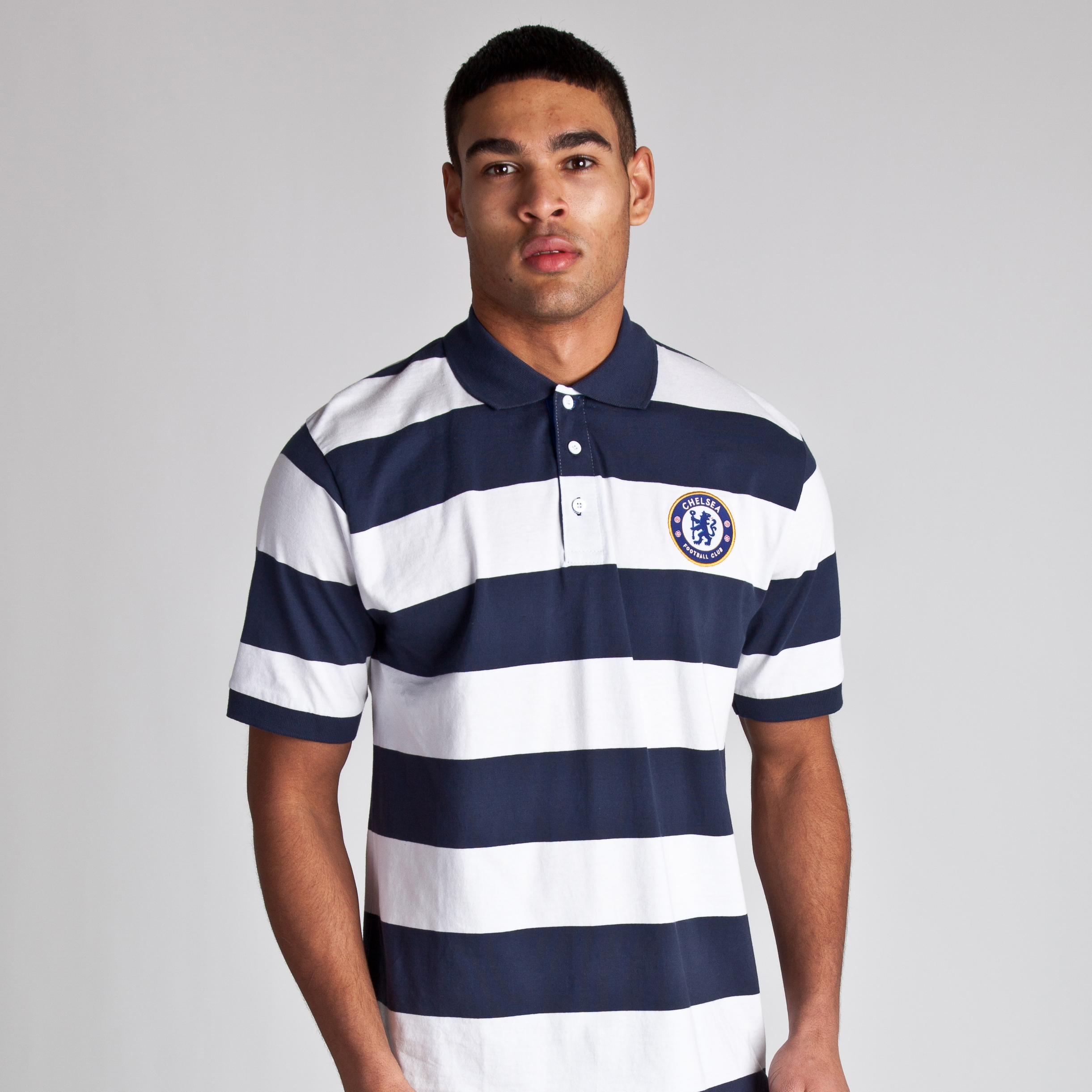Chelsea Core Yarn Dye Striped Polo - Navy/White