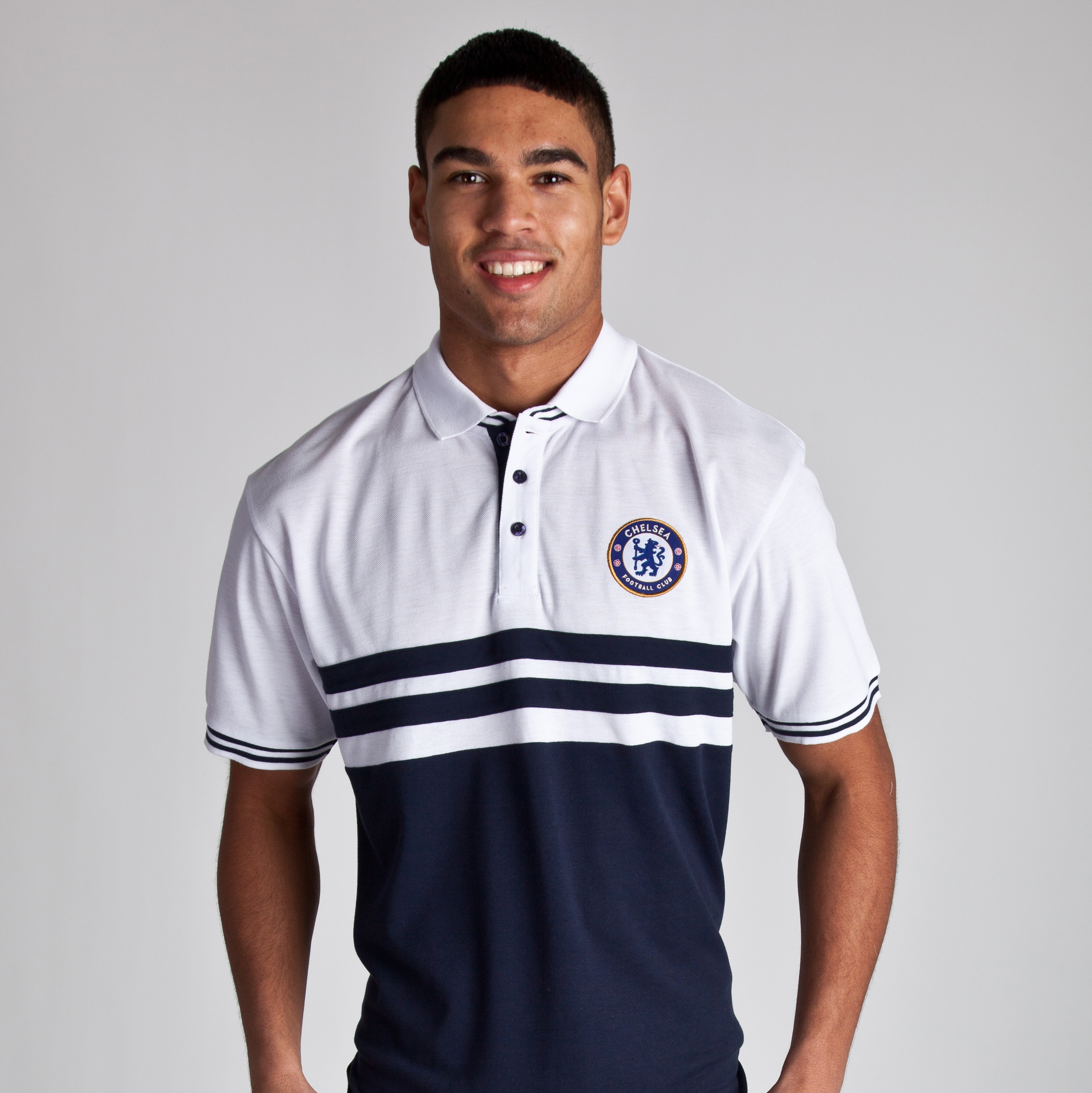 Chelsea Core Paneled Polo - Navy/White