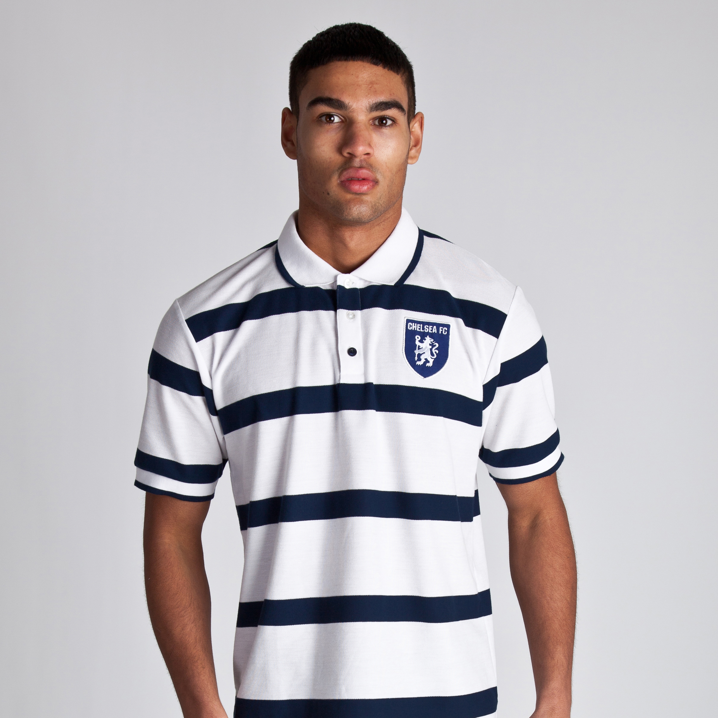 Chelsea Regatta Striped Polo - White/Marine