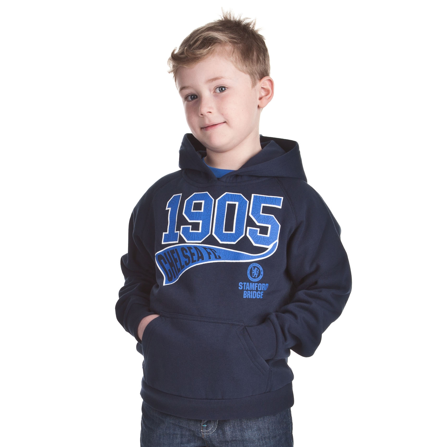 Chelsea Fashion 1905 Graphic Hoody - Navy - Older Boys