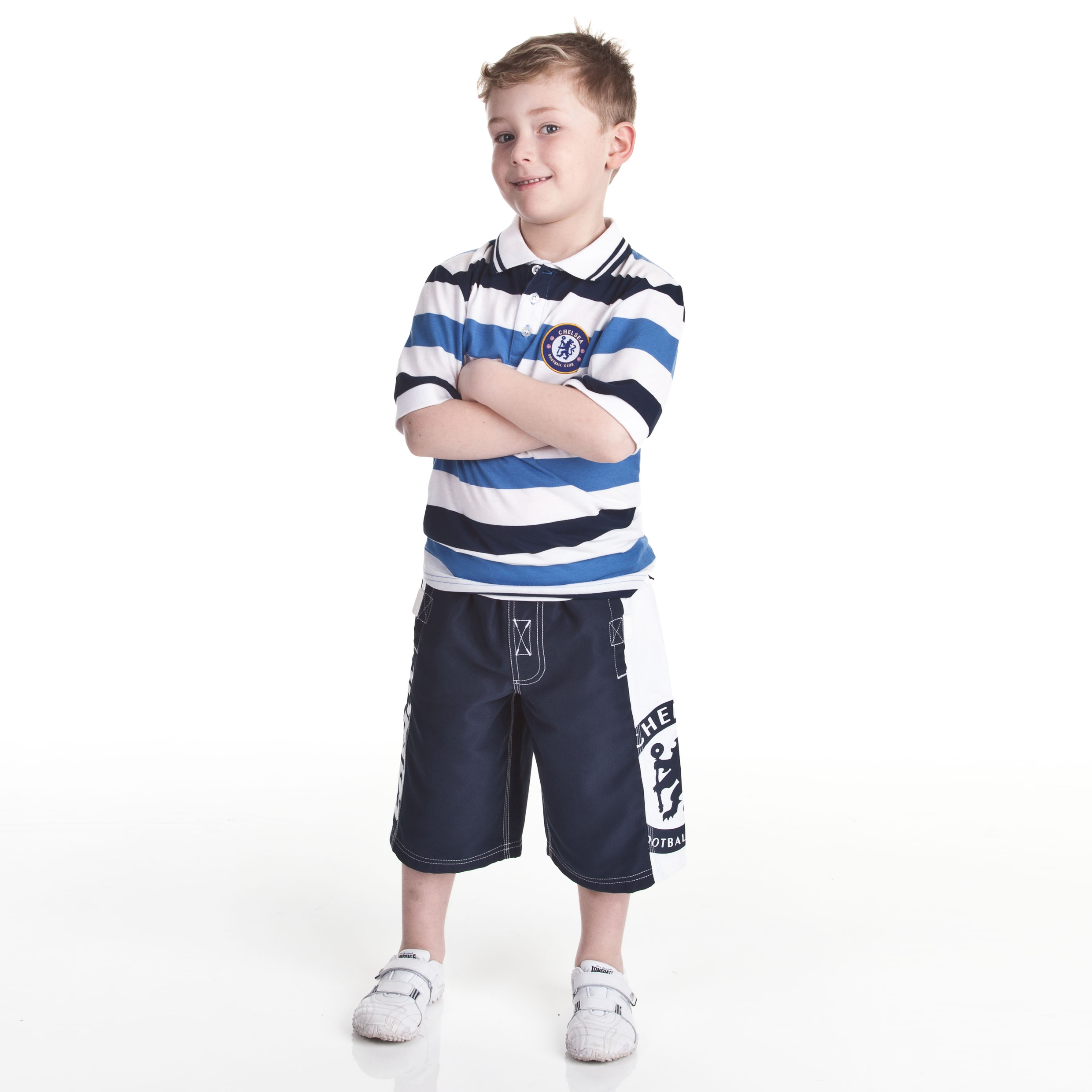 Chelsea Fashion Woven Board Short - Navy - Older Boys