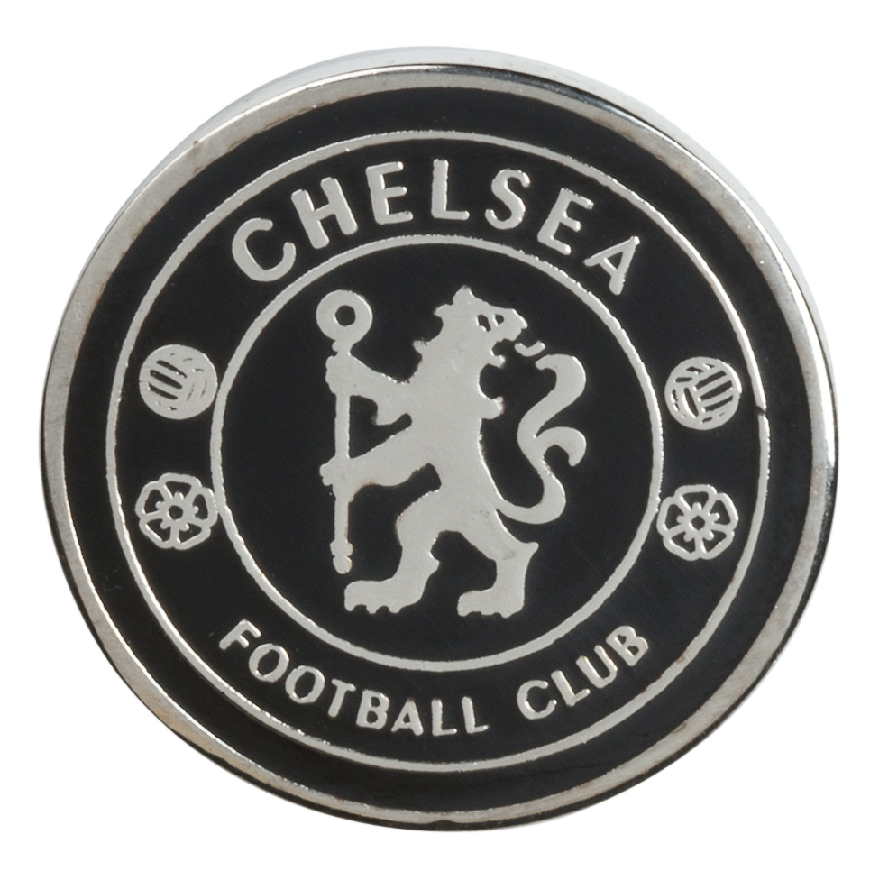 Chelsea Golf Ball Marker - Black/Silver