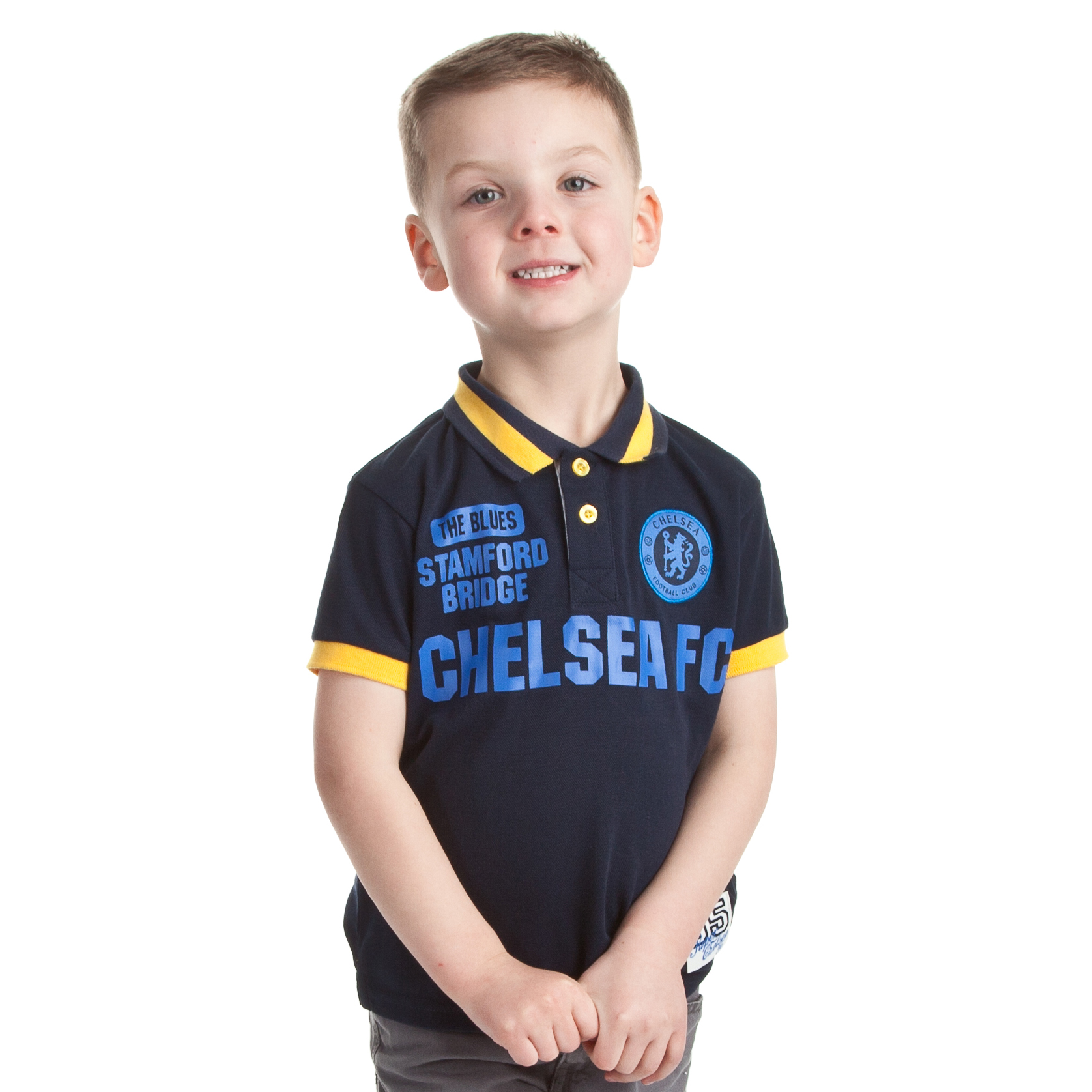 Chelsea Fashion Graphic Polo - Navy - Infant Boys