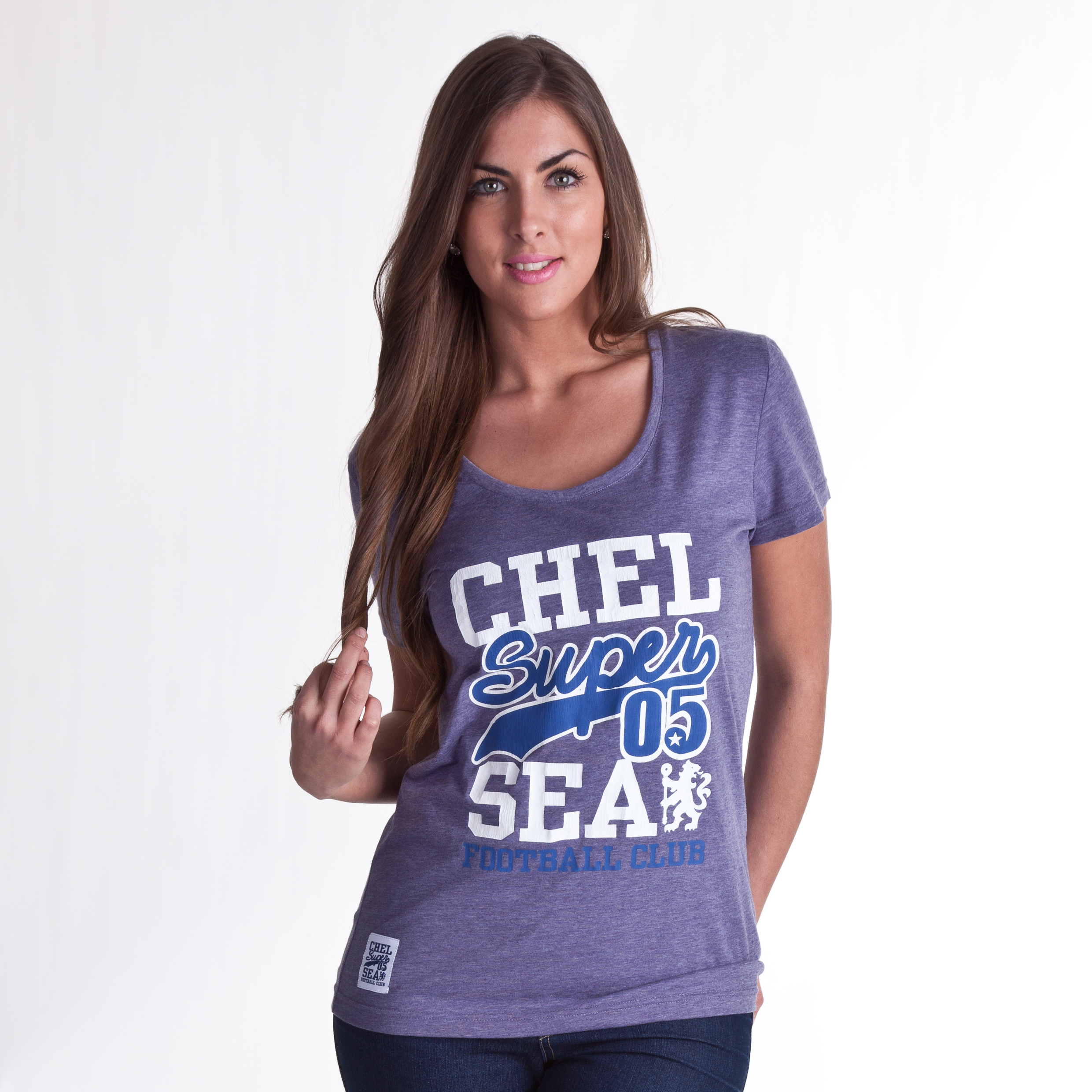 Chelsea Super 05 Crew Neck T-Shirt - Heron Marl - Womens