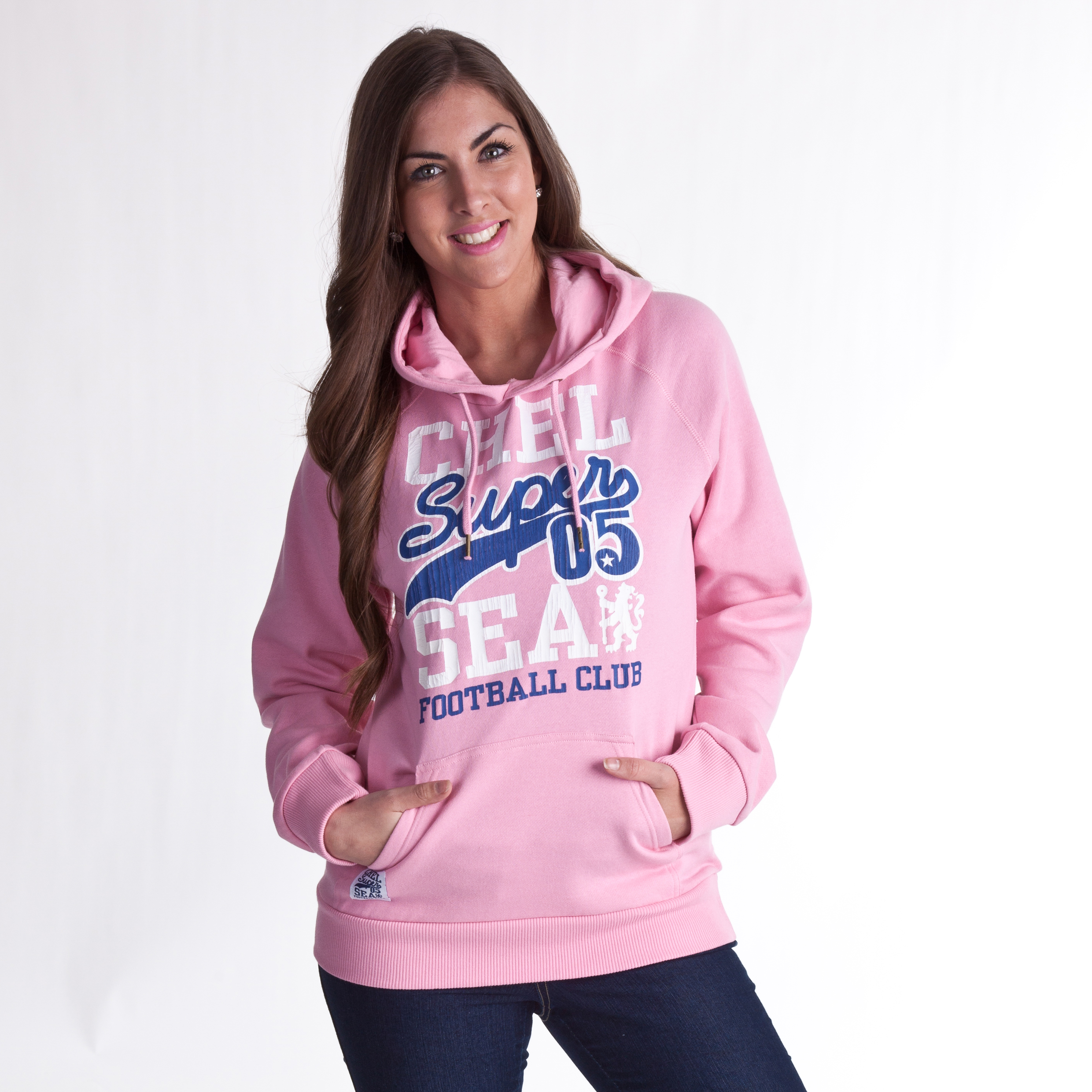 Chelsea Super 05 Graphic Hoody - Sherbet Pink - Womens