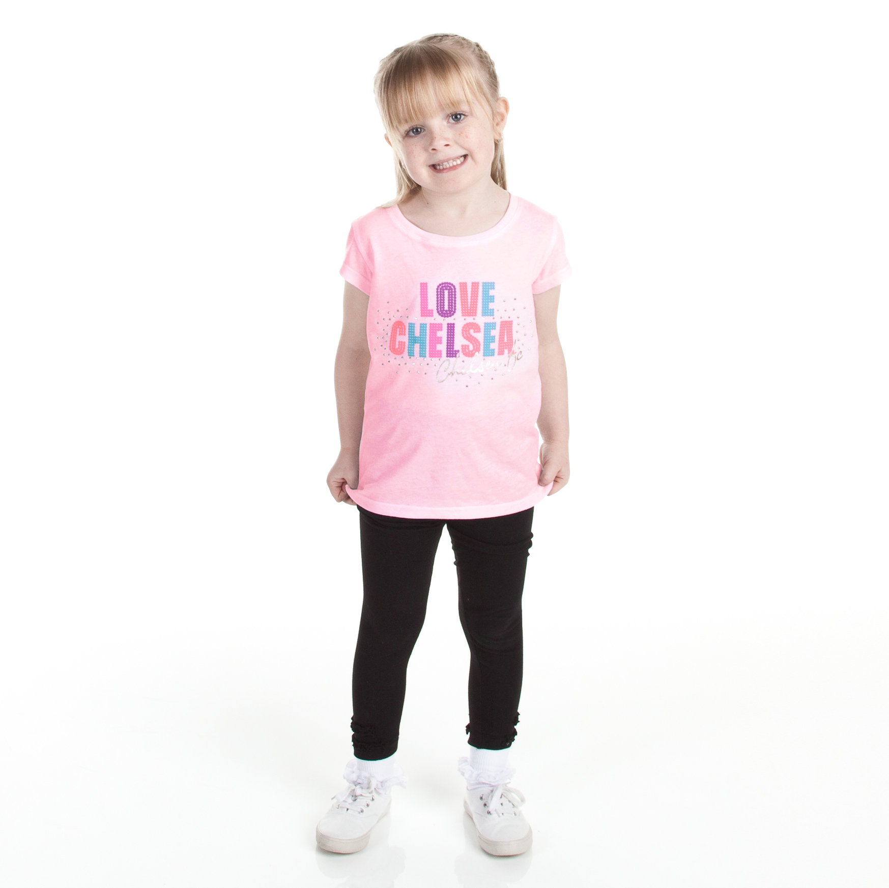 Chelsea Love Graphic T-Shirt - Sherbet Pink - Infant Girls
