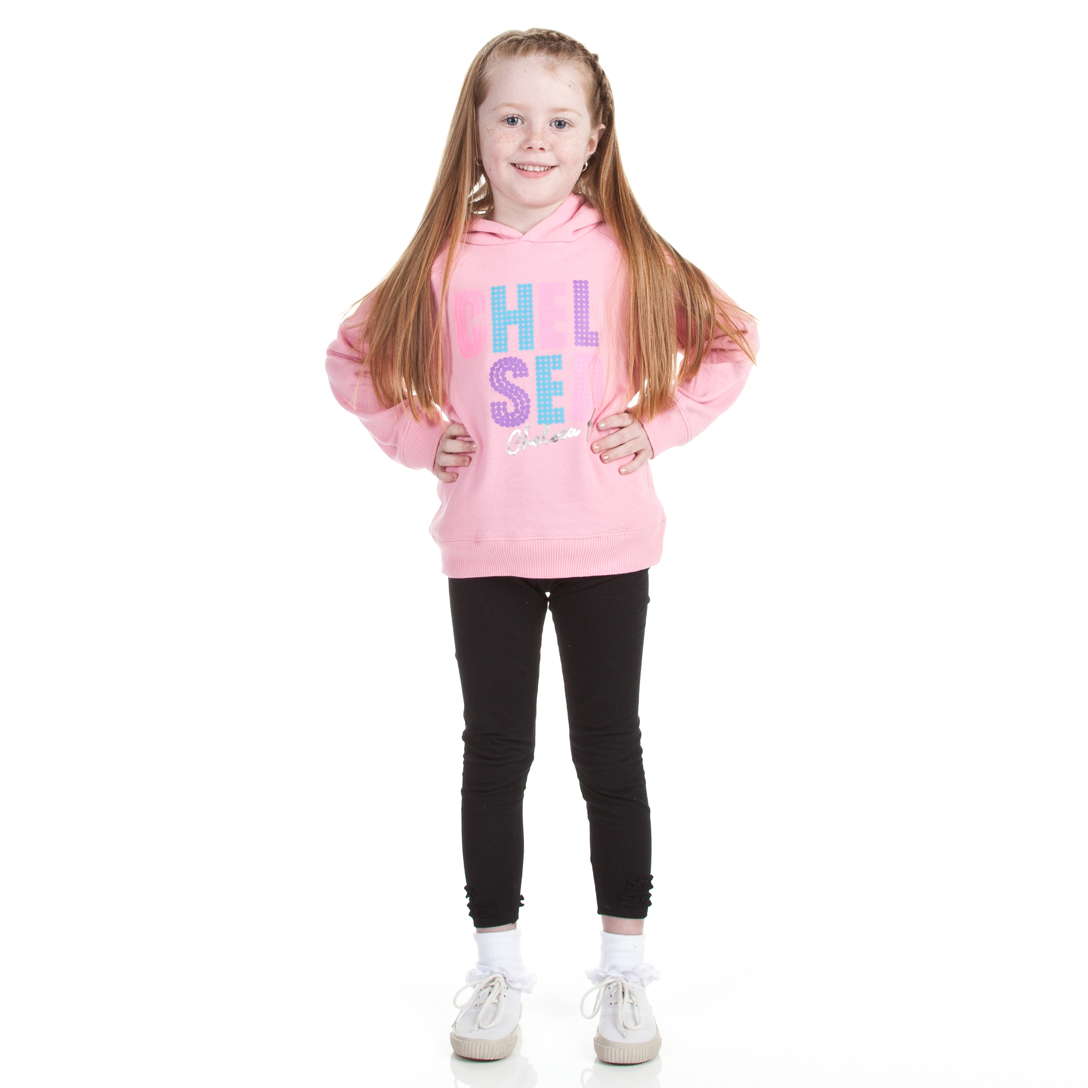 Chelsea Love Graphic Hoody - Sherbet Pink - Infant Girls