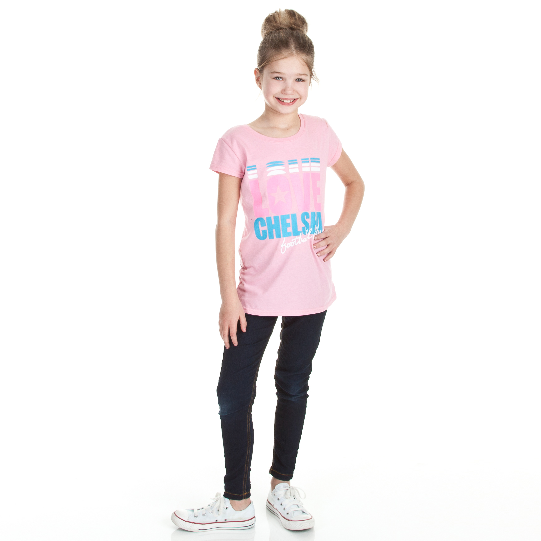 Chelsea Love Graphic T-Shirt - Sherbet Pink - Older Girls