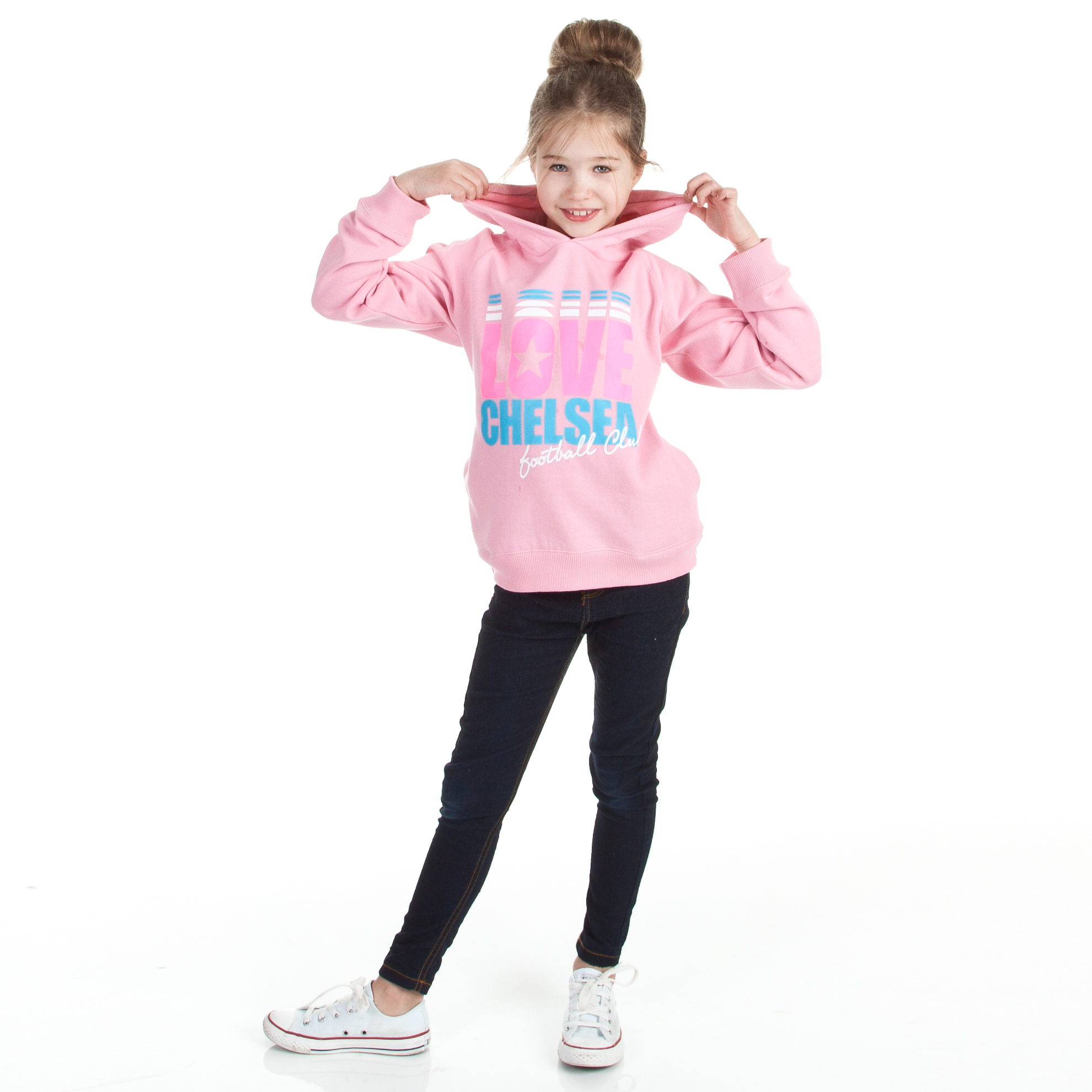 Chelsea Love Graphic Hoody - Sherbet Pink - Older Girls