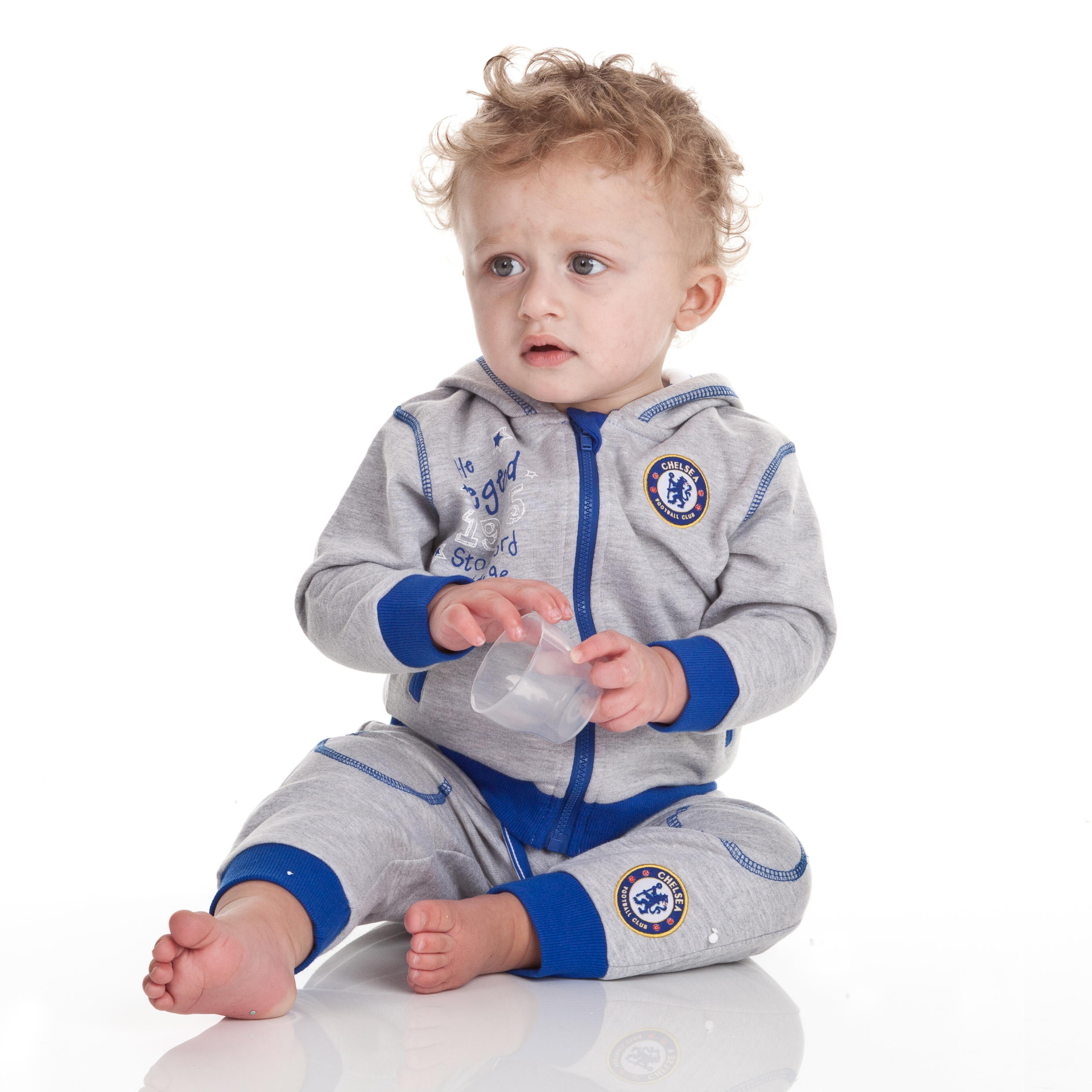 Chelsea The Legend Jog Suit - Grey Marl - Baby Boys