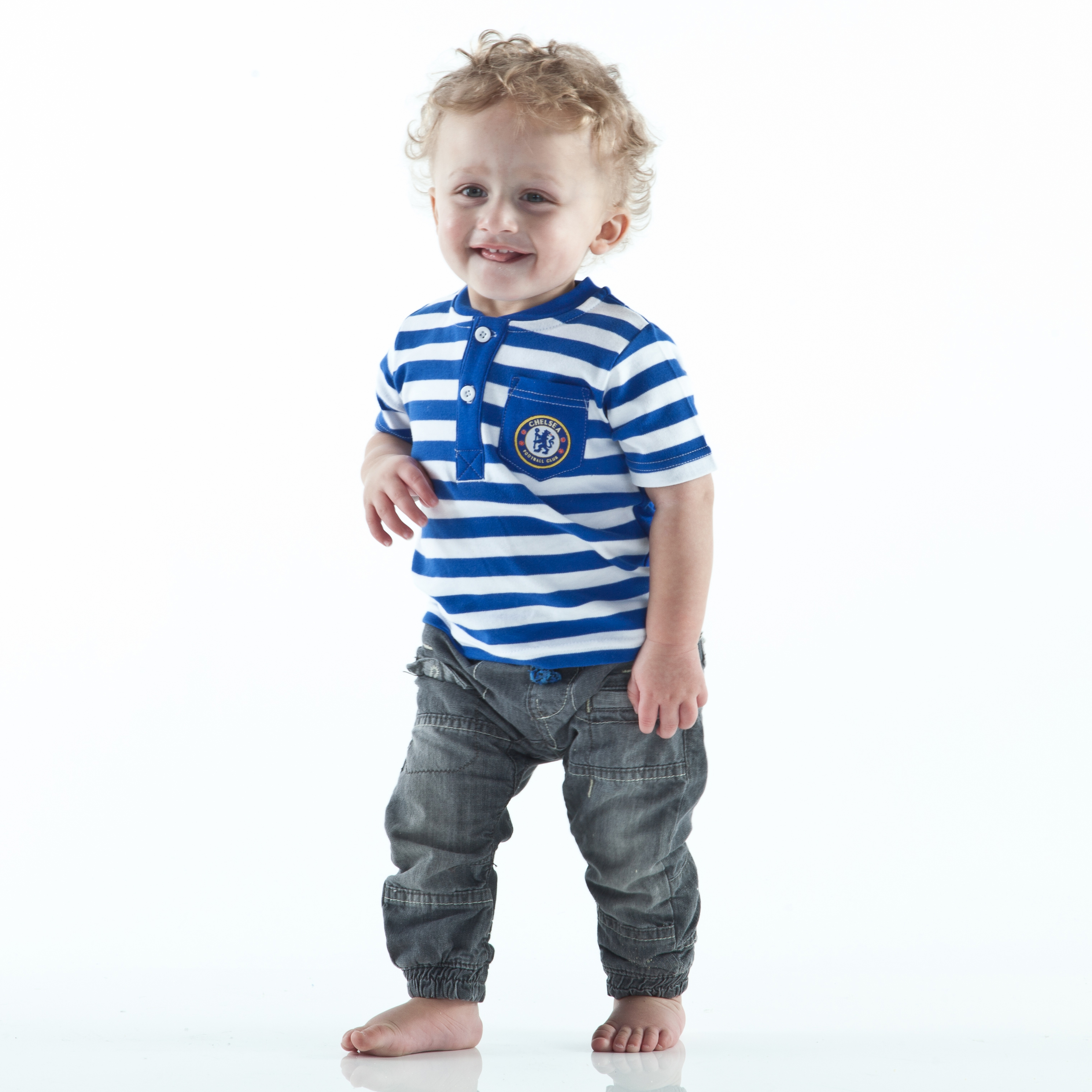 Chelsea Striped T-Shirt - Reflex Blue/White - Baby Boys