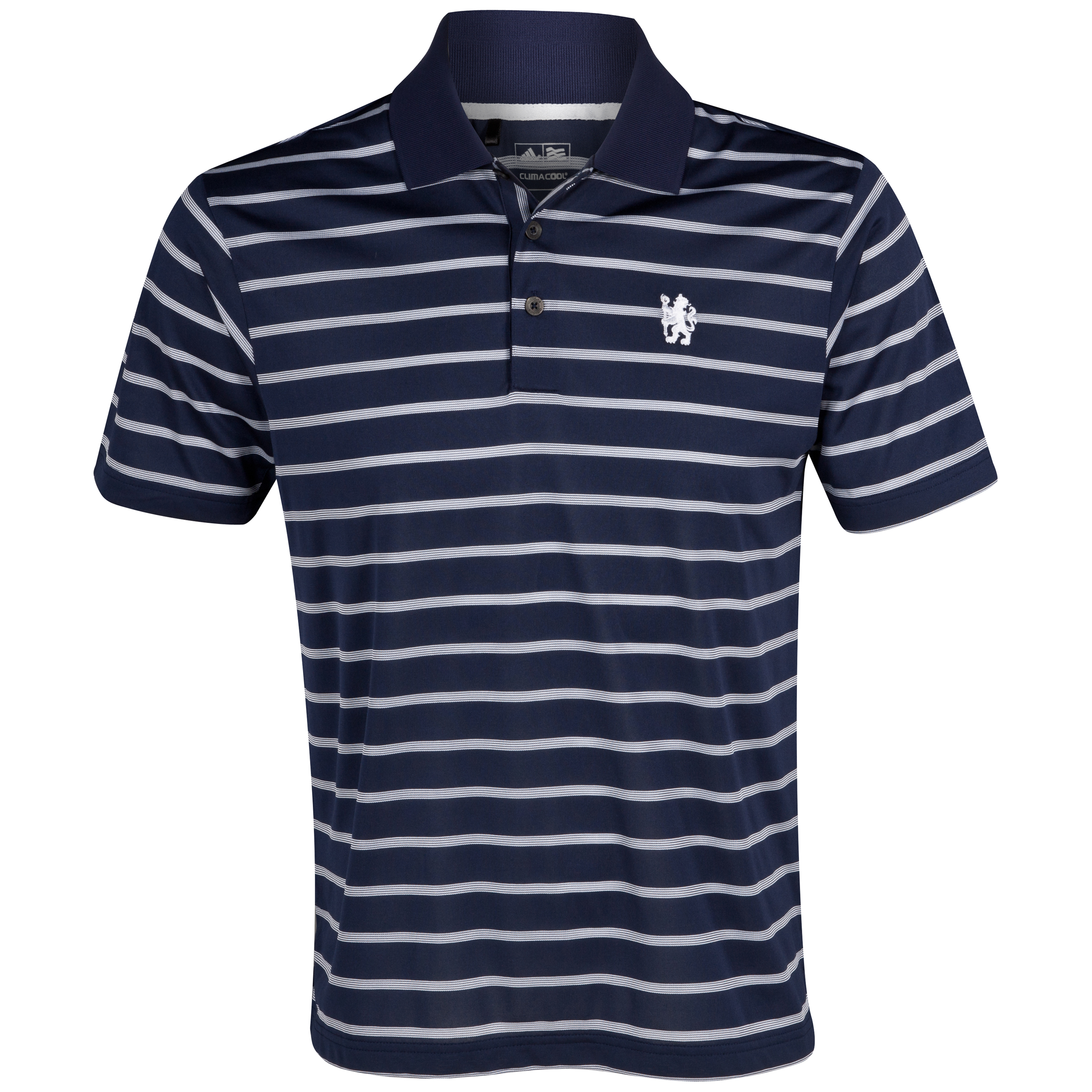 Chelsea Golf ClimaCool Textured Stripe Polo - Navy/White