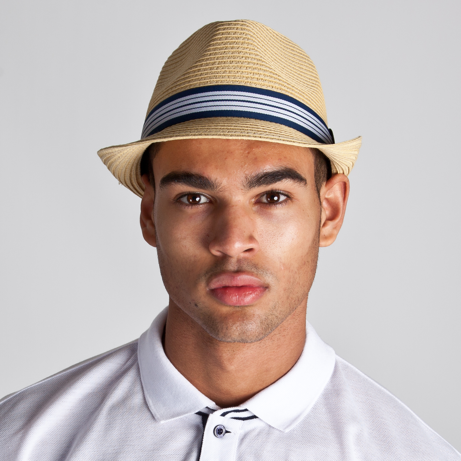 Chelsea Straw Trilby - Natural - Mens