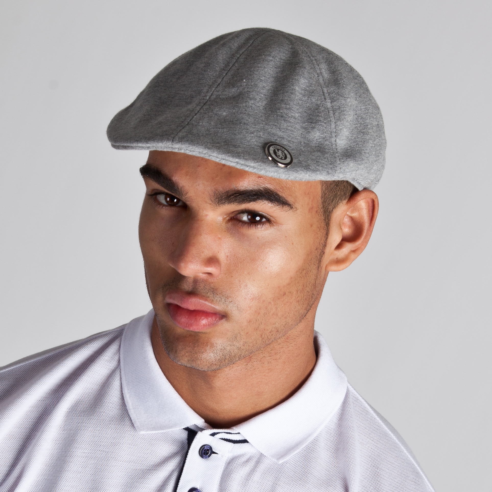 Chelsea Flat Cap - Grey Marl - Mens