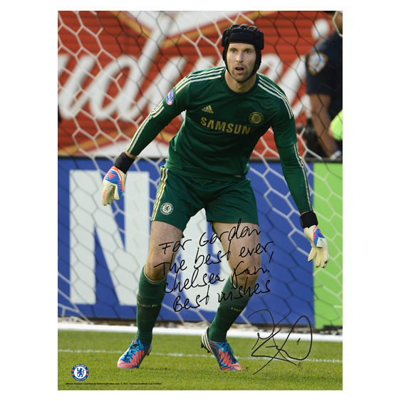 Chelsea Personalised Cech Action Poster