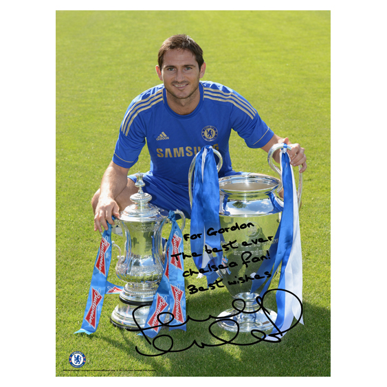 Chelsea Personalised Lampard and Cups Poster