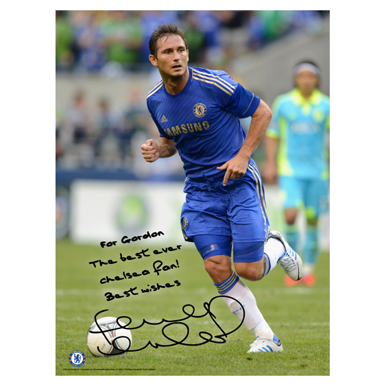 Chelsea Personalised Lampard Action Poster
