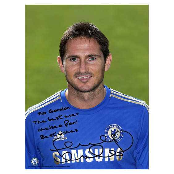 Chelsea Personalised Lampard Photocall Poster