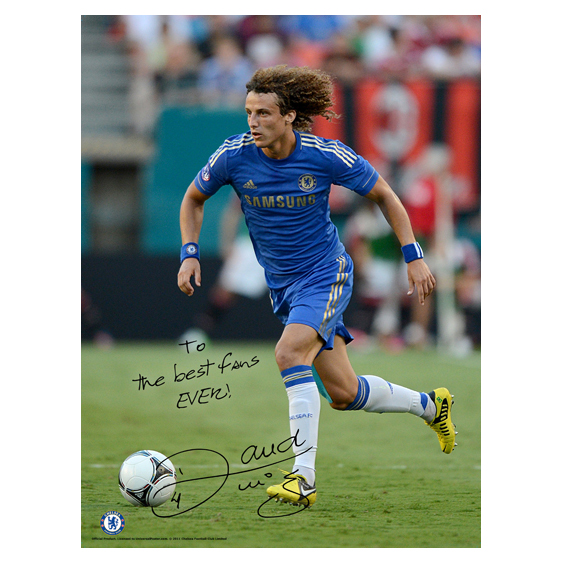 Chelsea Personalised Luiz Action Poster