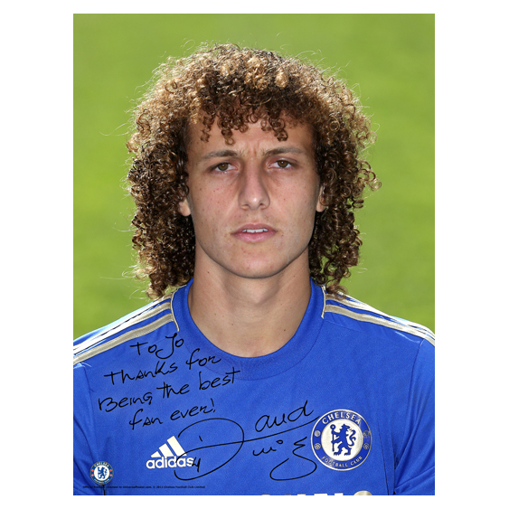 Chelsea Personalised Luiz Photocall Poster