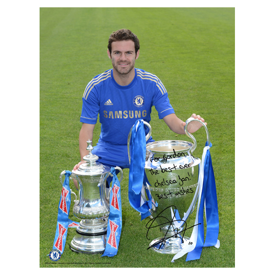 Chelsea Personalised Mata and Cups Poster