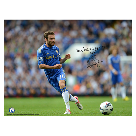 Chelsea Personalised Mata Action Poster