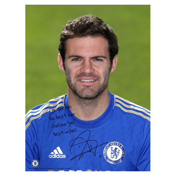 Chelsea Personalised Mata Photocall Poster