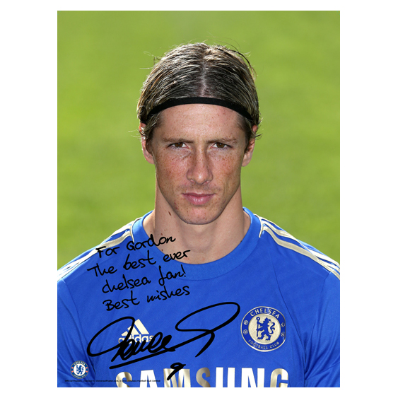 Chelsea Personalised Torres Photocall Poster