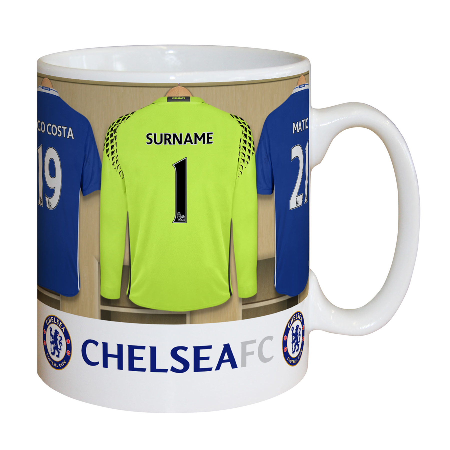 Chelsea Personalised Goalkeeper Dressing Room Mug