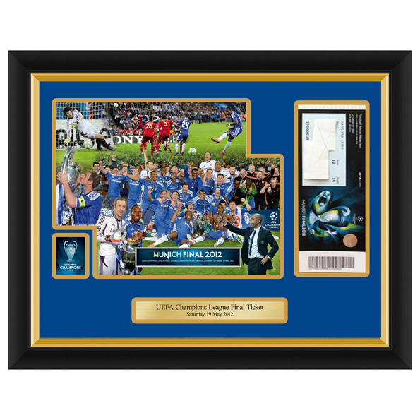 Chelsea Champions League Frame Your Own Ticket Celebration Montage