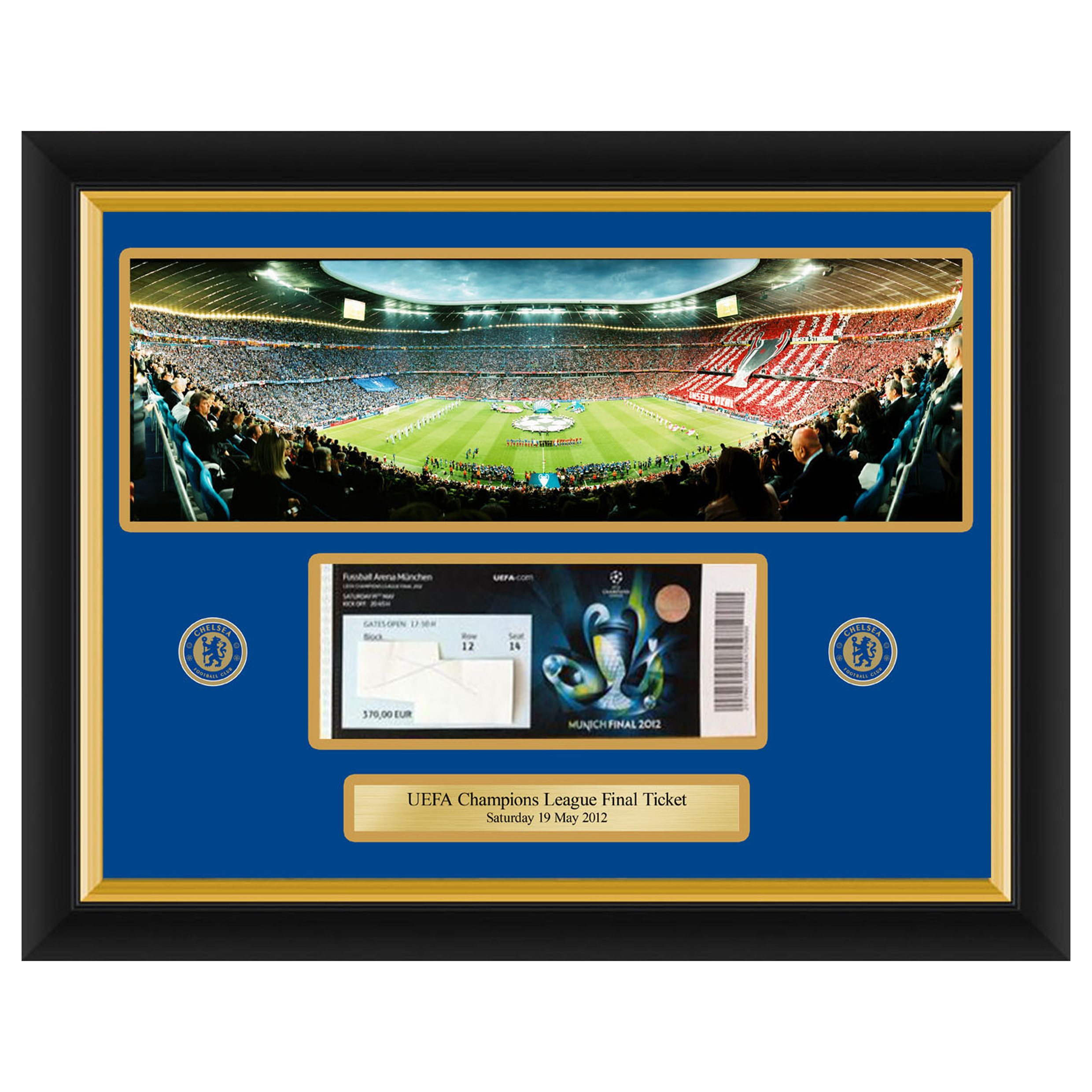 Chelsea Champions League Frame Your Own Ticket Panoramic