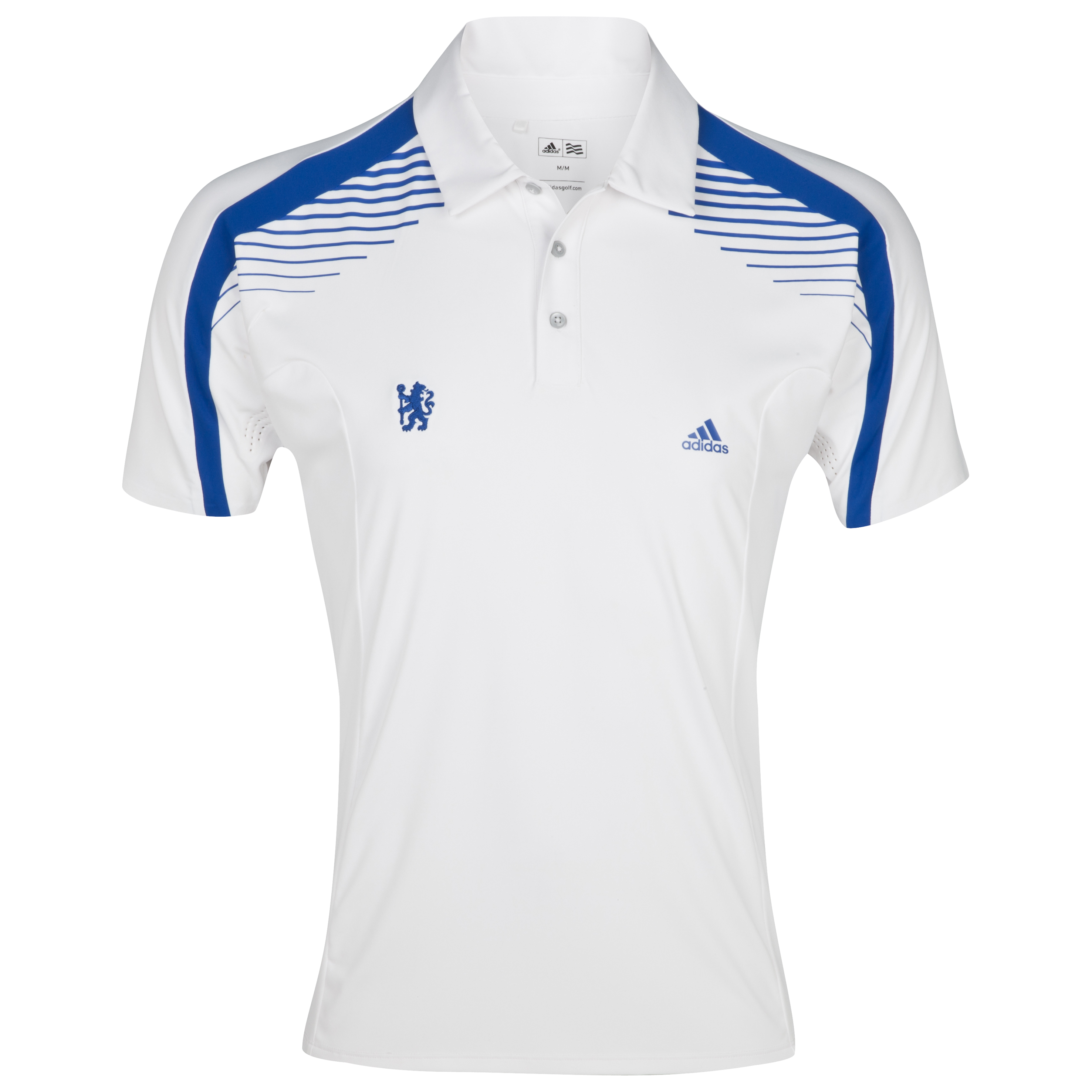 Chelsea Golf ClimaCool Colour Block Polo - White/Blueberry