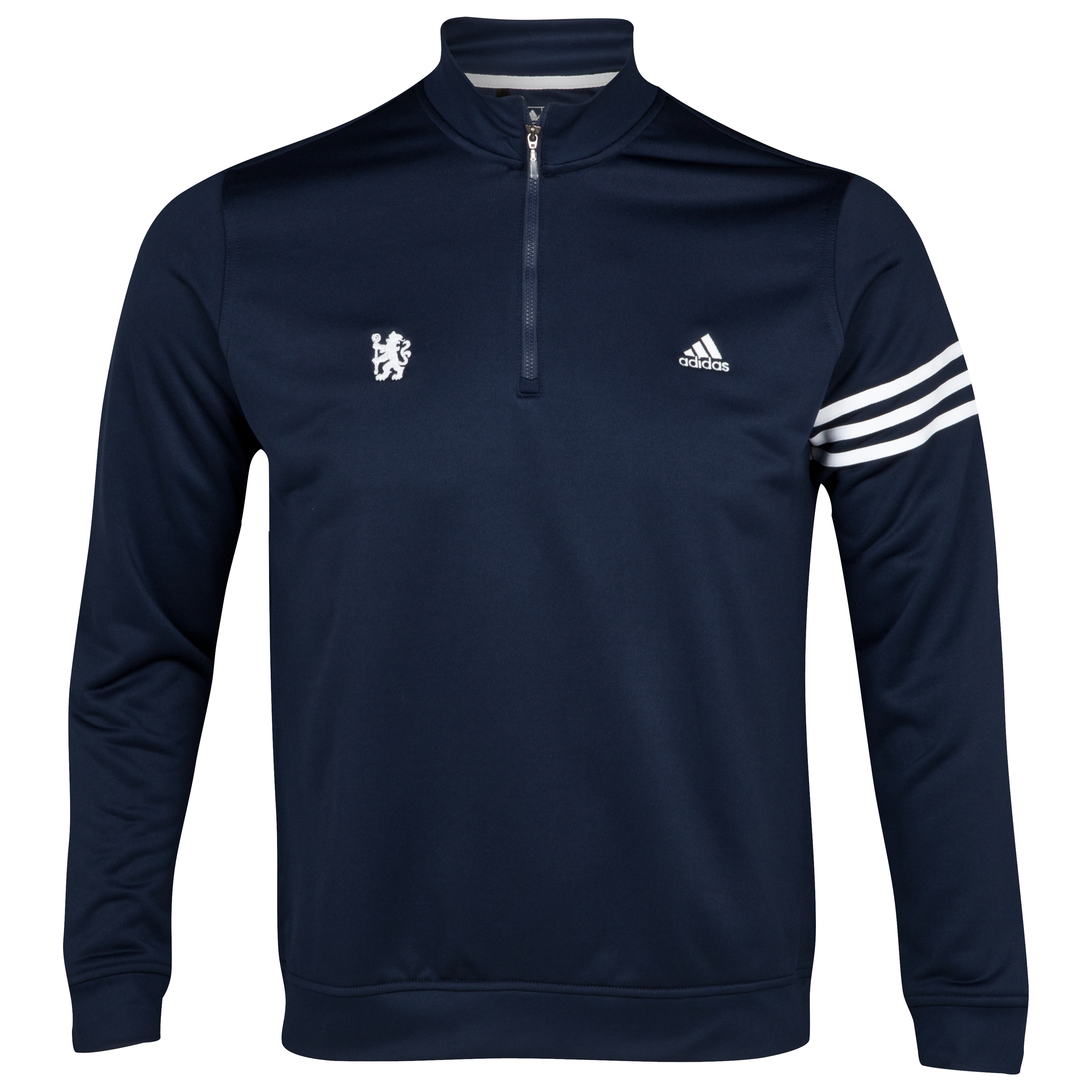 Chelsea Golf Long Sleeve Zip Neck Top - Navy
