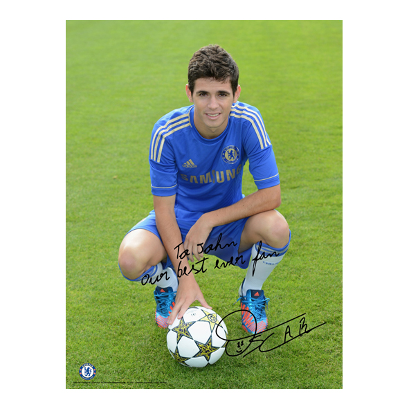Chelsea Personalised Oscar and Ball Poster