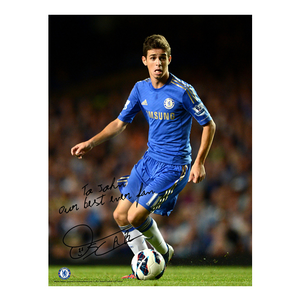 Chelsea Personalised Oscar In Action Poster