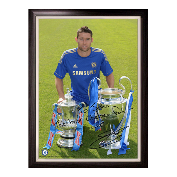 Chelsea Personalised Cahill &amp; Cups Poster Framed