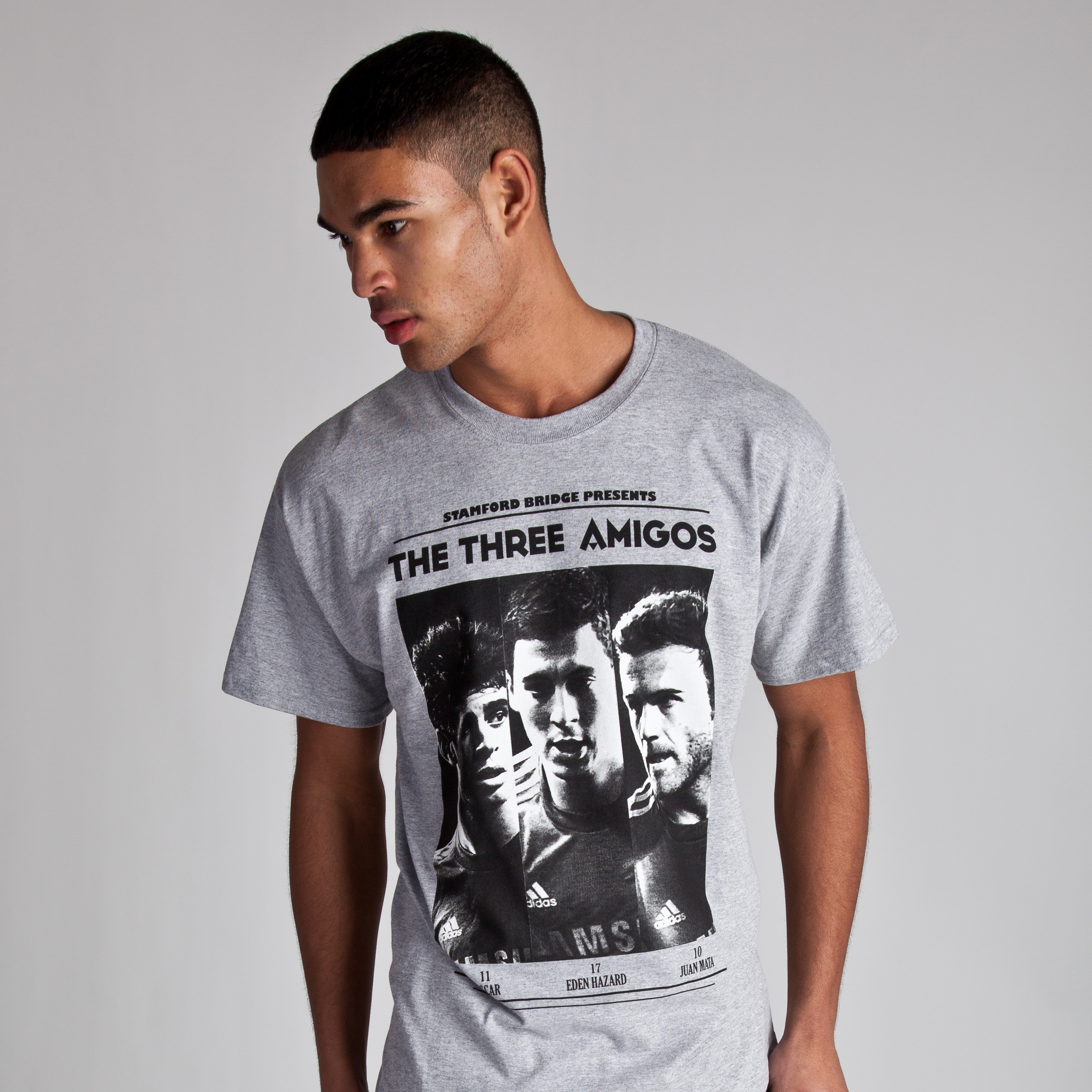Chelsea Three Amigos T-Shirt - Grey Marl - Mens