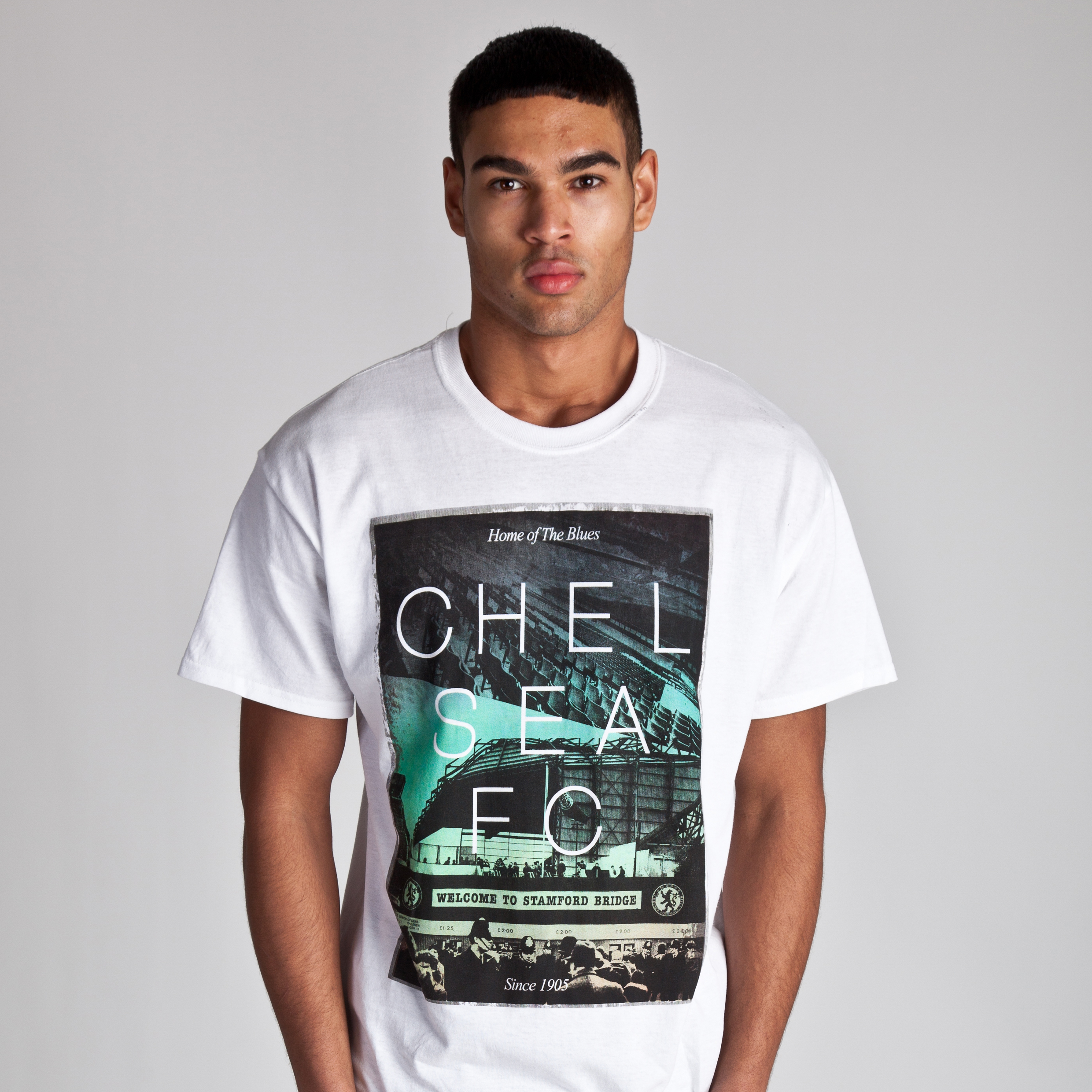 Chelsea Welcome Photo T-Shirt - White - Mens