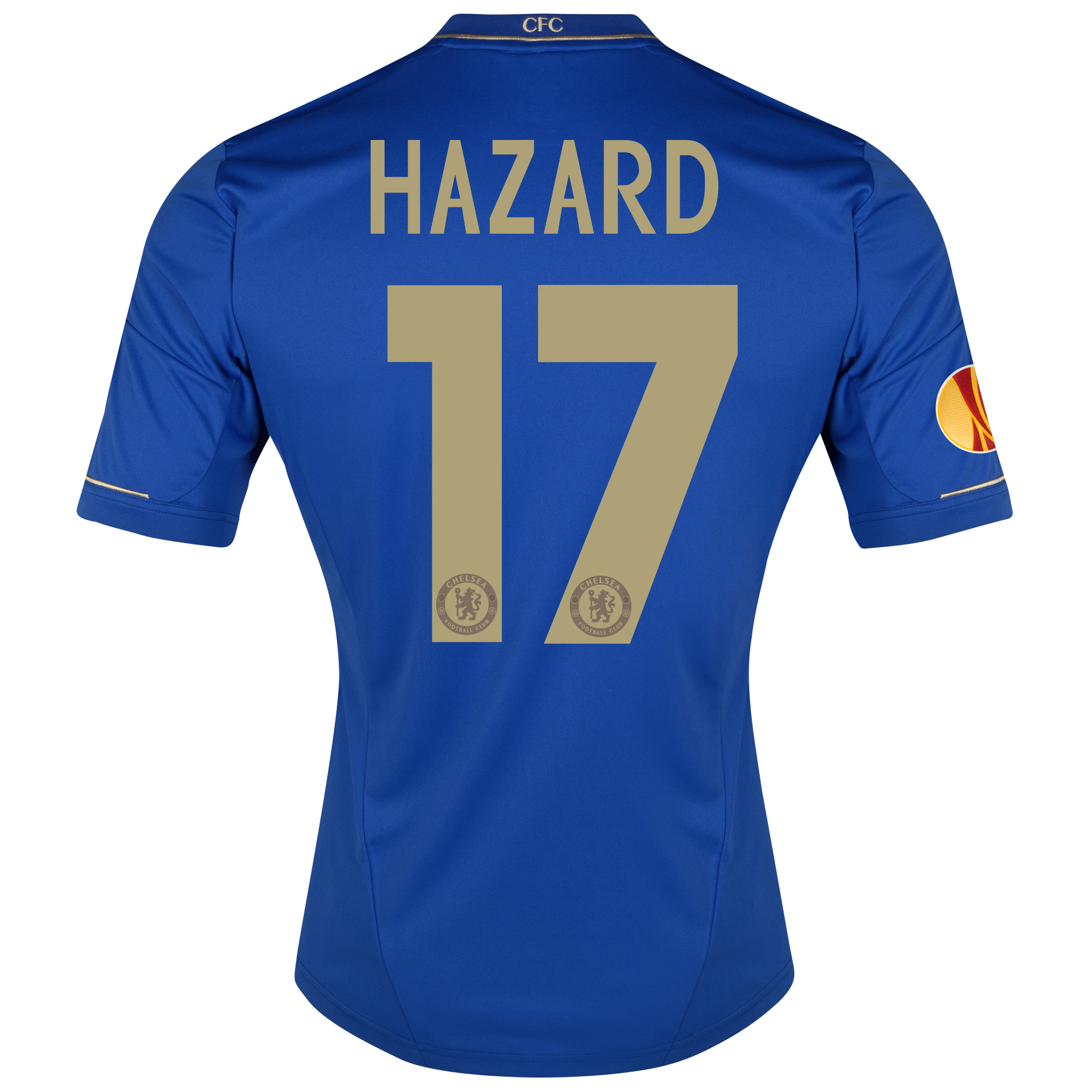 Chelsea UEFA Europa League Home Shirt 2012/13 with Hazard 17 printing Including Europa League Badge