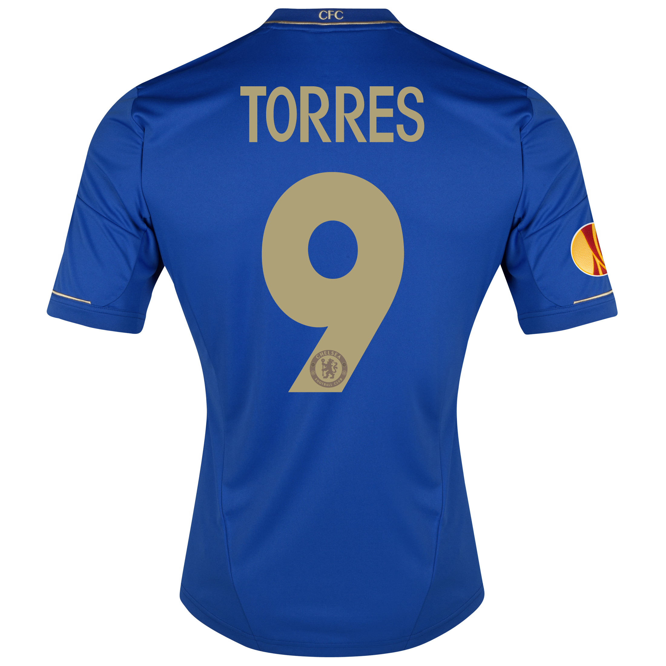 Chelsea UEFA Europa League Home Shirt 2012/13 with Torres 9 printing Including Europa Badge
