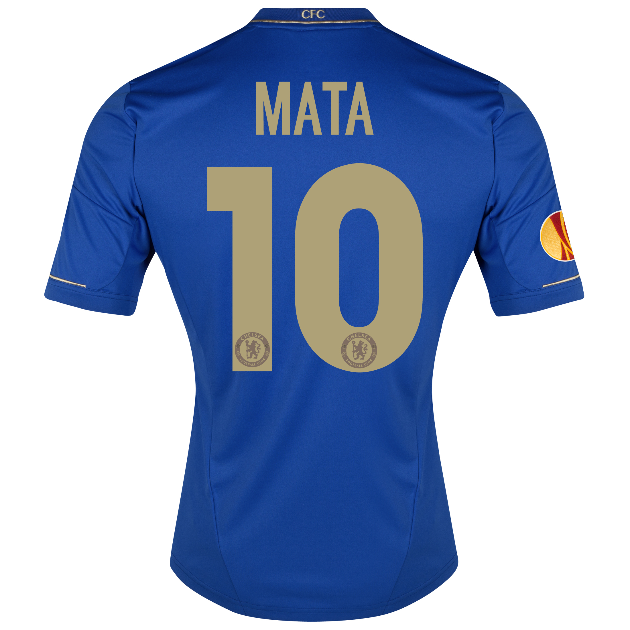 Chelsea UEFA Europa League Home Shirt 2012/13 with Mata 10 printing Including Europa Badge
