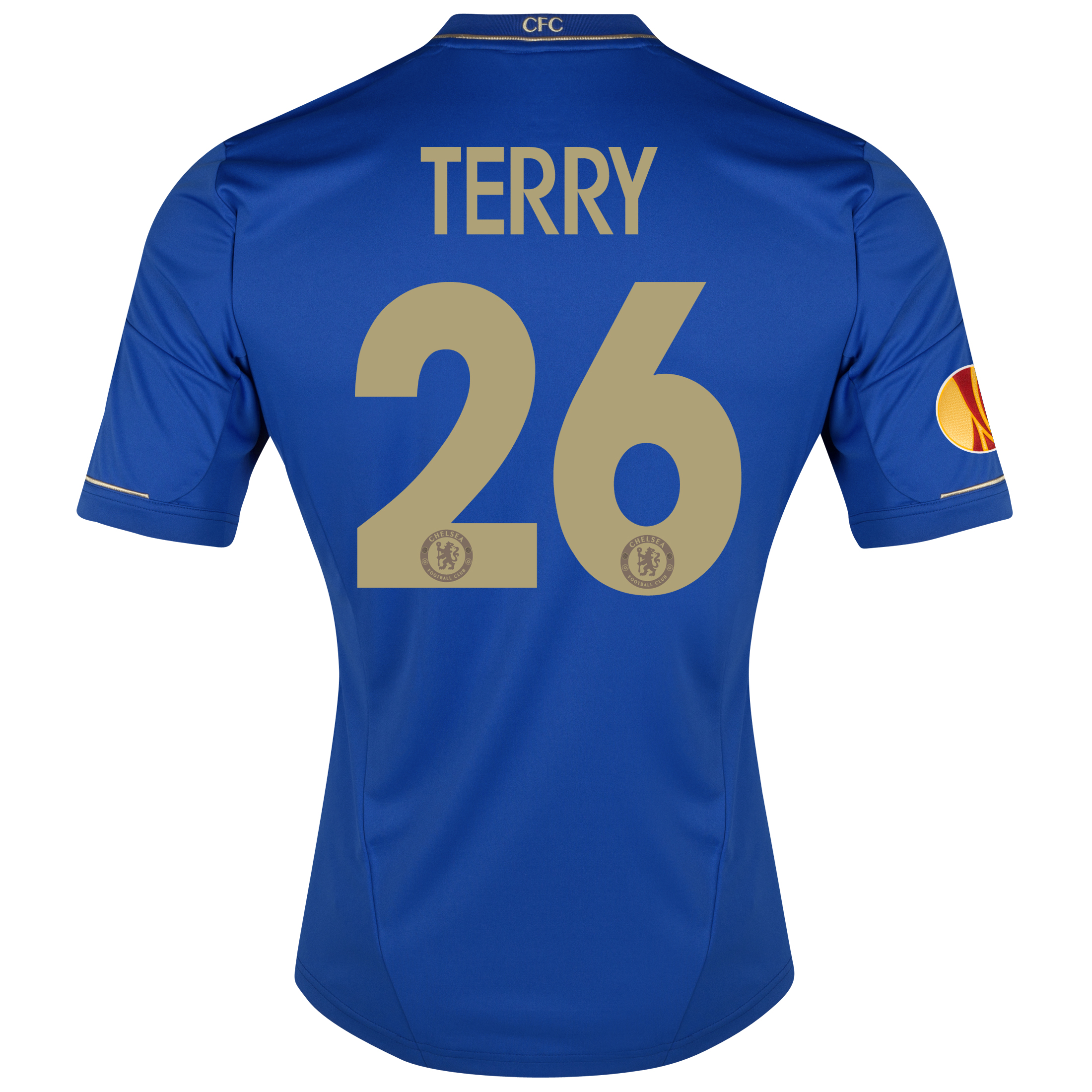 Chelsea UEFA Europa League Home Shirt 2012/13 with Terry 26 printing Including Europa Badge