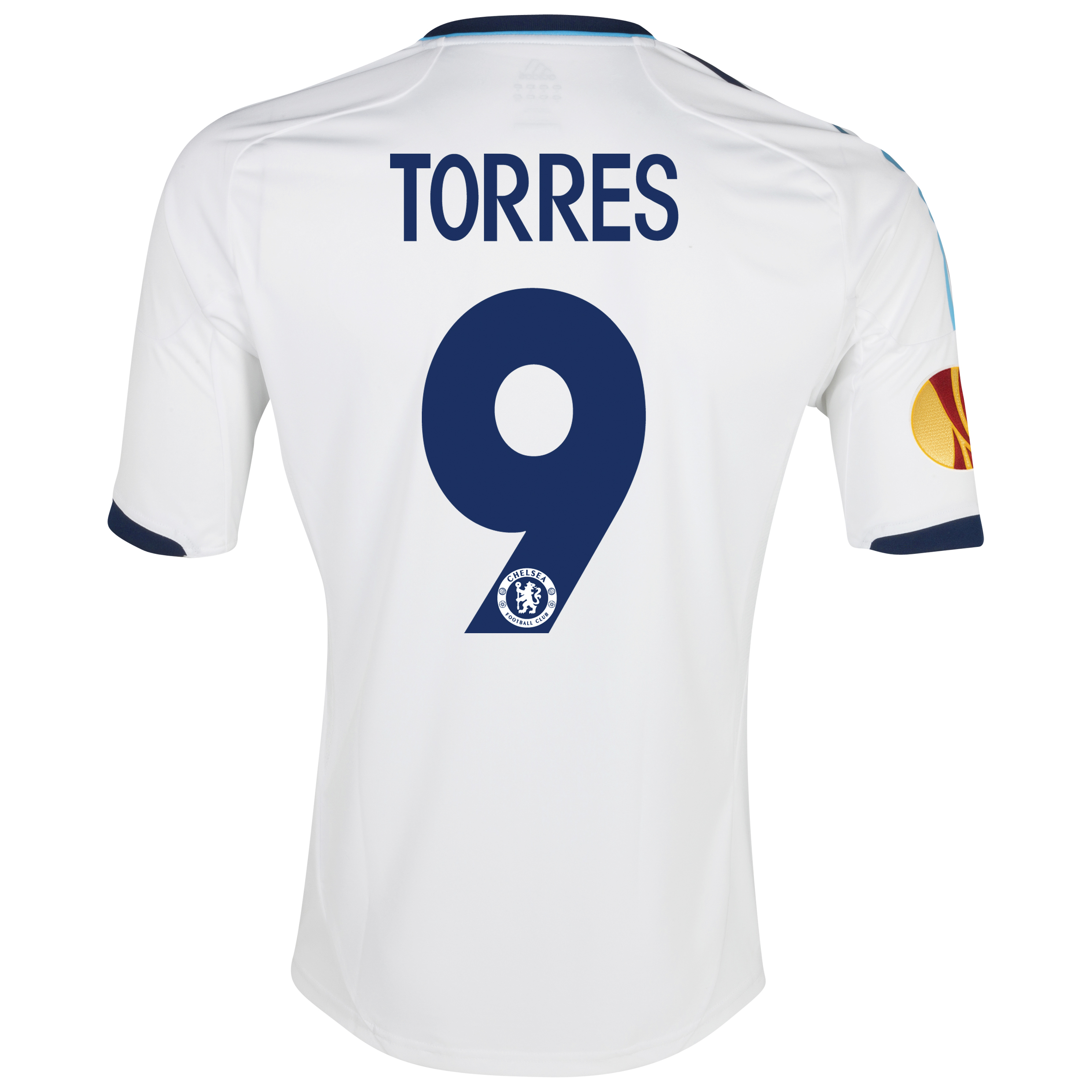 Chelsea UEFA Europa League Away Shirt 2012/13 with Torres 9 printing Including Europa Badge