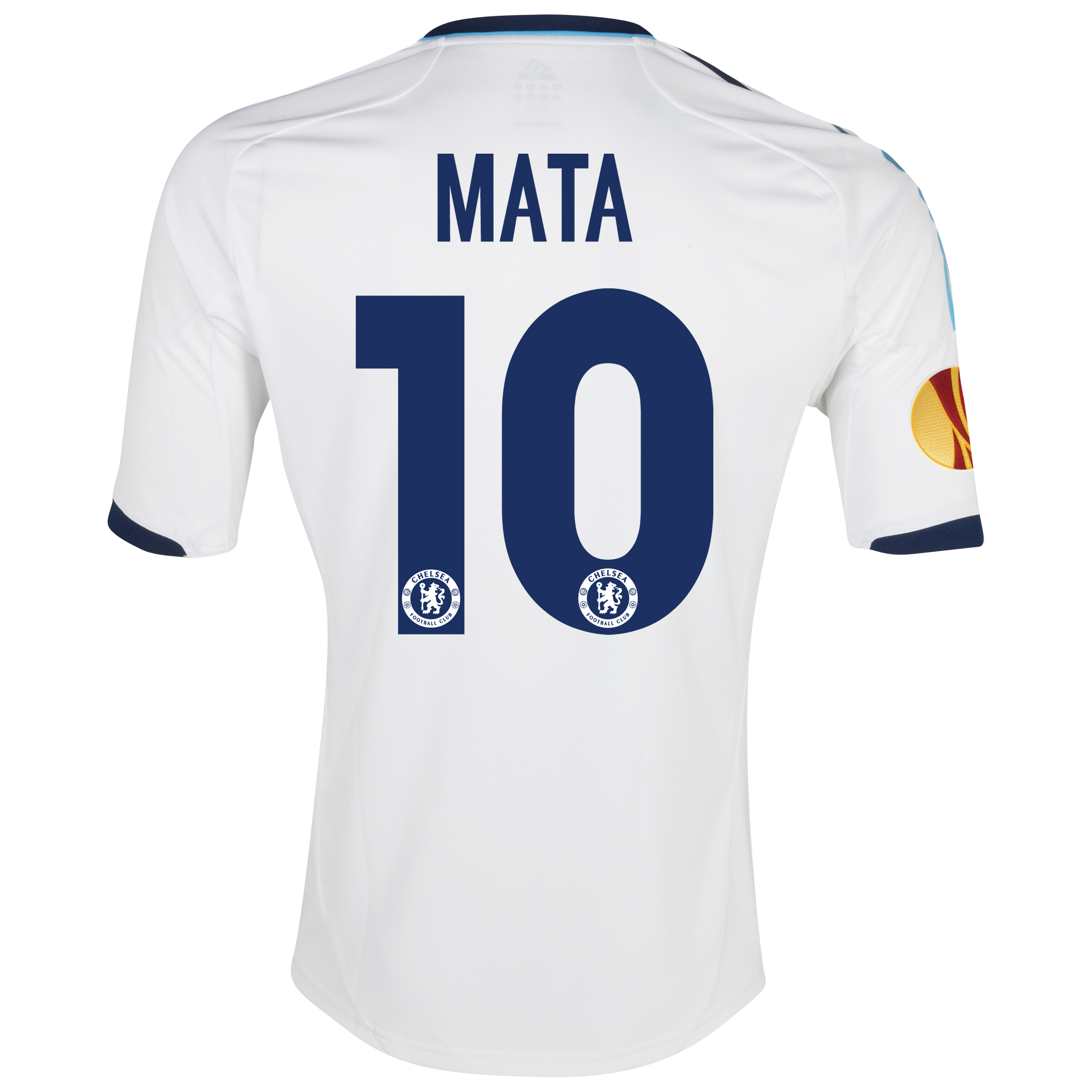 Chelsea UEFA Europa League Away Shirt 2012/13 with Mata 10 printing Including Europa Badge