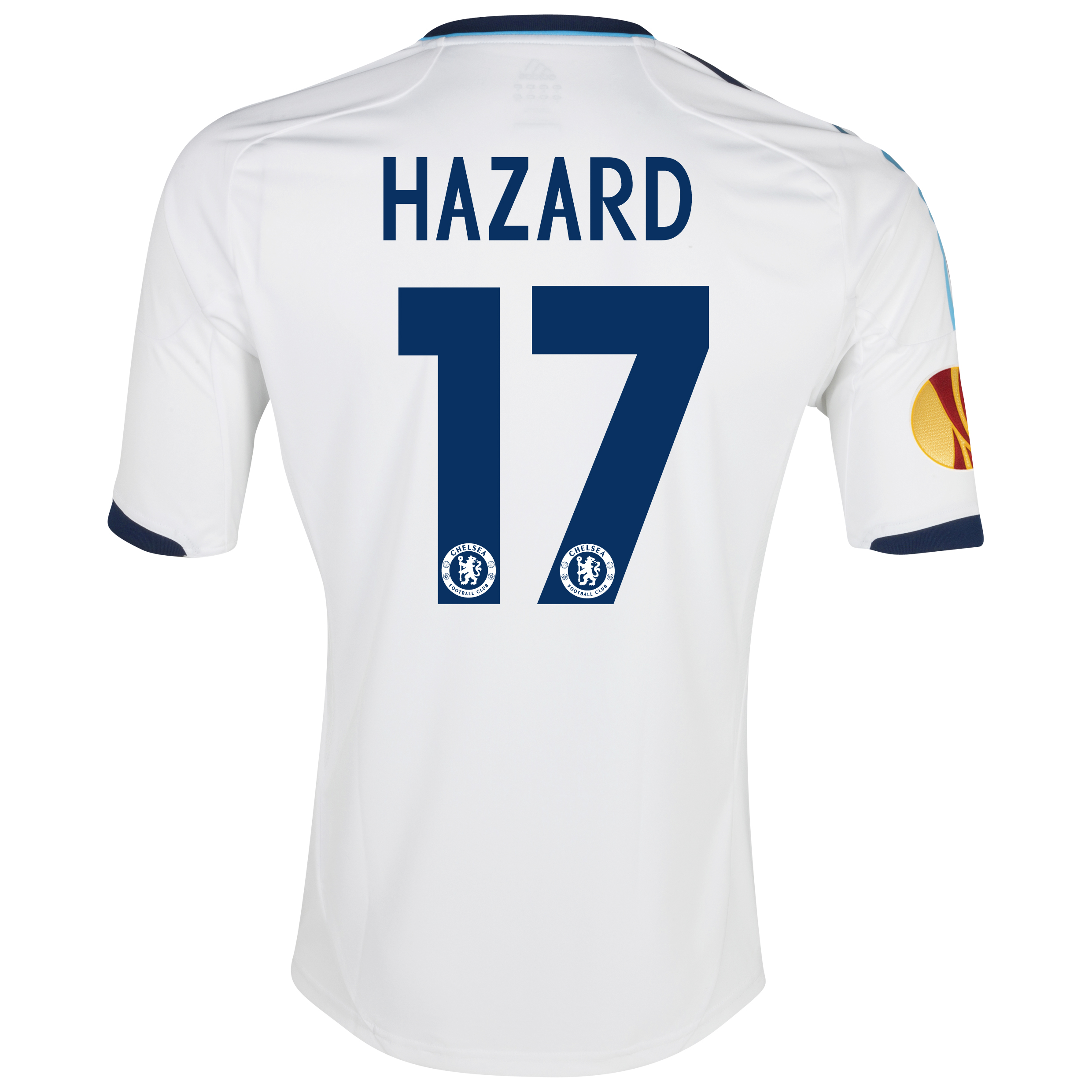 Chelsea UEFA Europa League Away Shirt 2012/13 with Hazard 17 printing Including Europa Badge