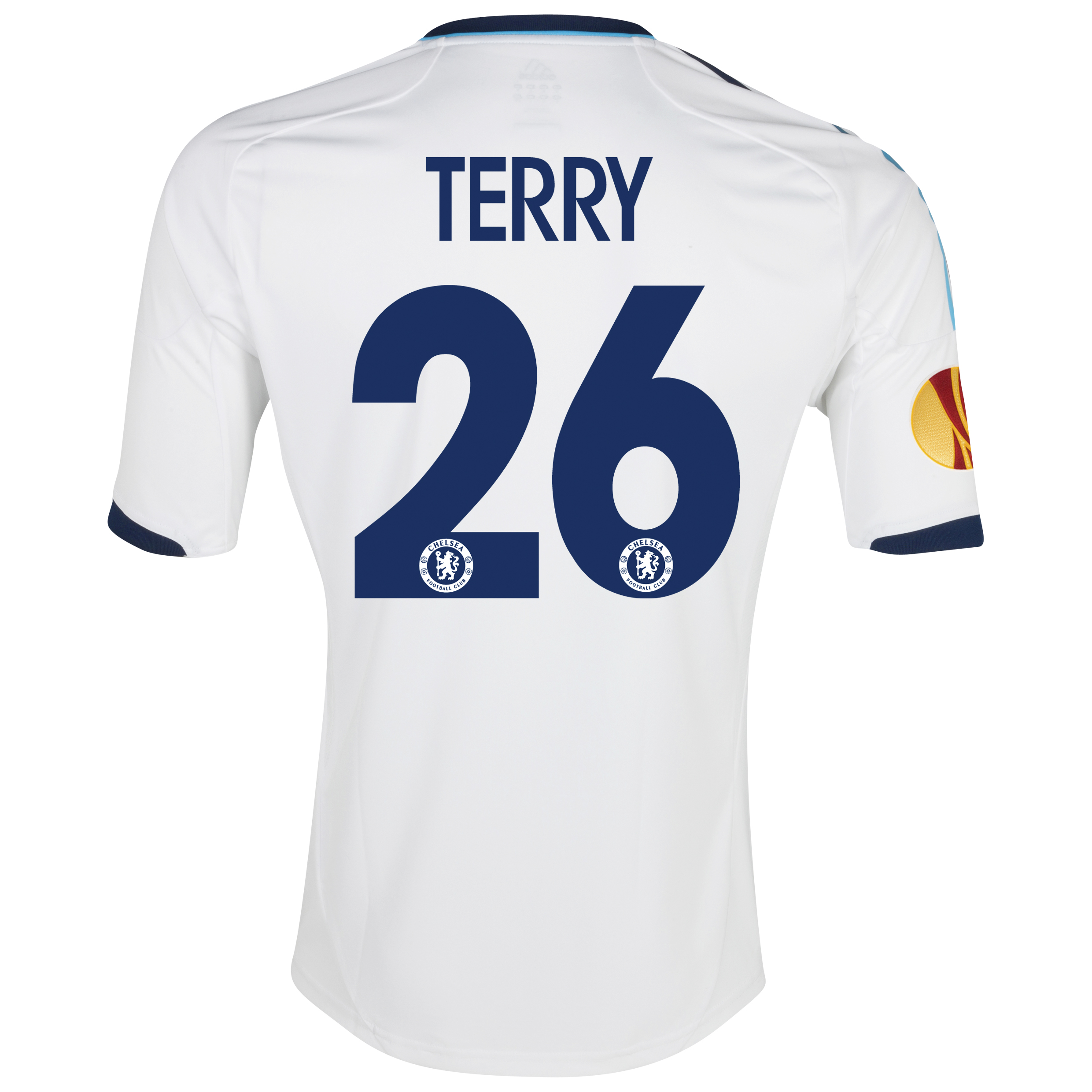 Chelsea UEFA Europa League Away Shirt 2012/13 with Terry 26 printing Including Europa Badge