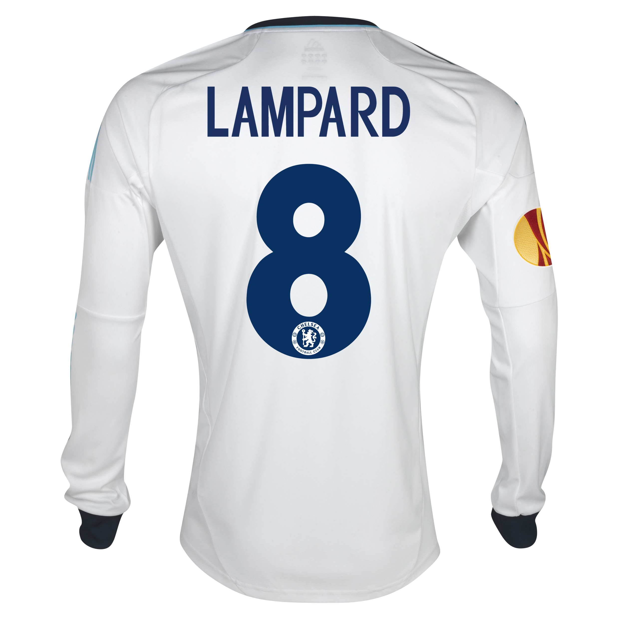 Chelsea UEFA Europa League Away Shirt 2012/13 - Long Sleeved with Lampard 8 printing Including Europa Badge